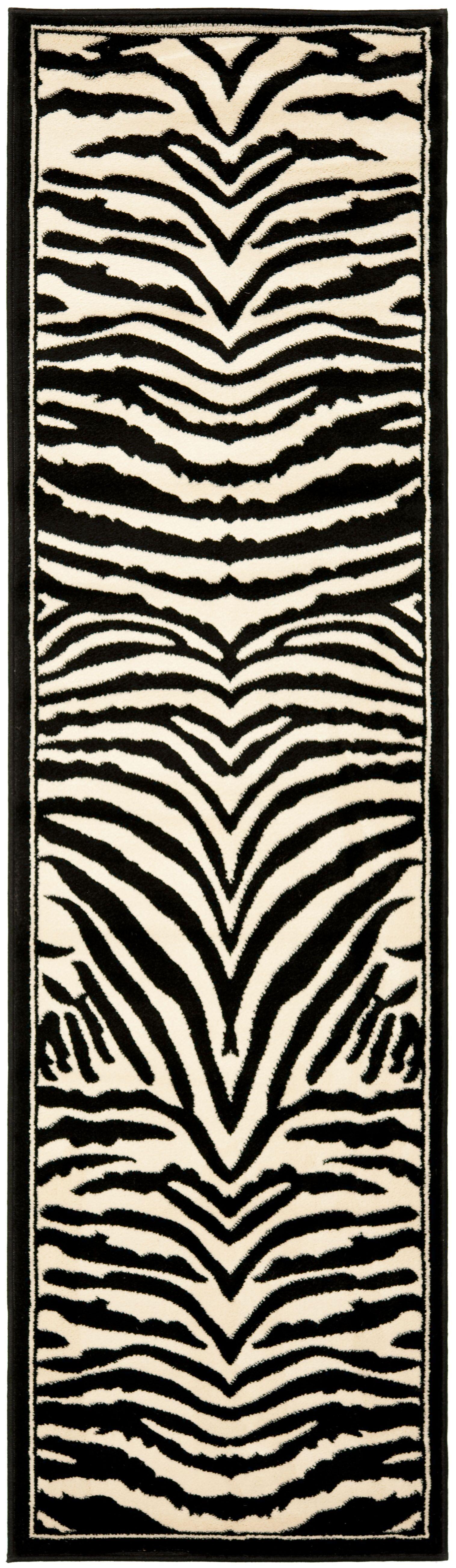 Lakewood Black/White Area Rug Rug Size: Runner 2'3