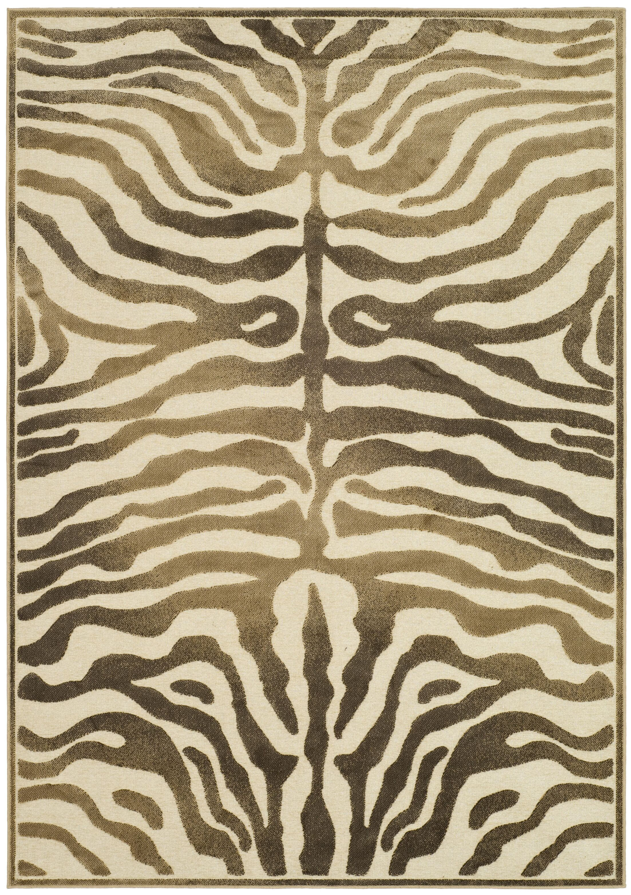 Linden Zebra Brown Area Rug Rug Size: Rectangle 8' x 11'2