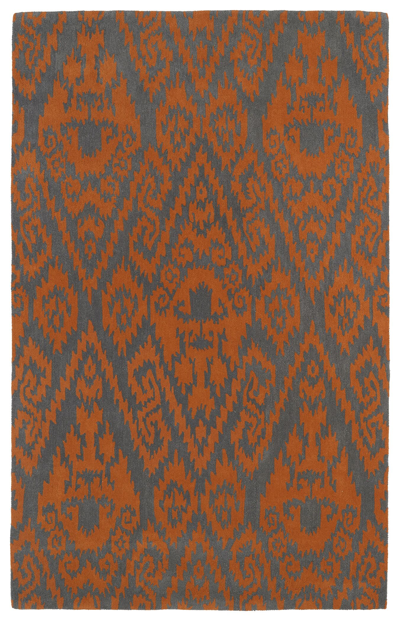 Rodeo Orange Area Rug Rug Size: Rectangle 9'6