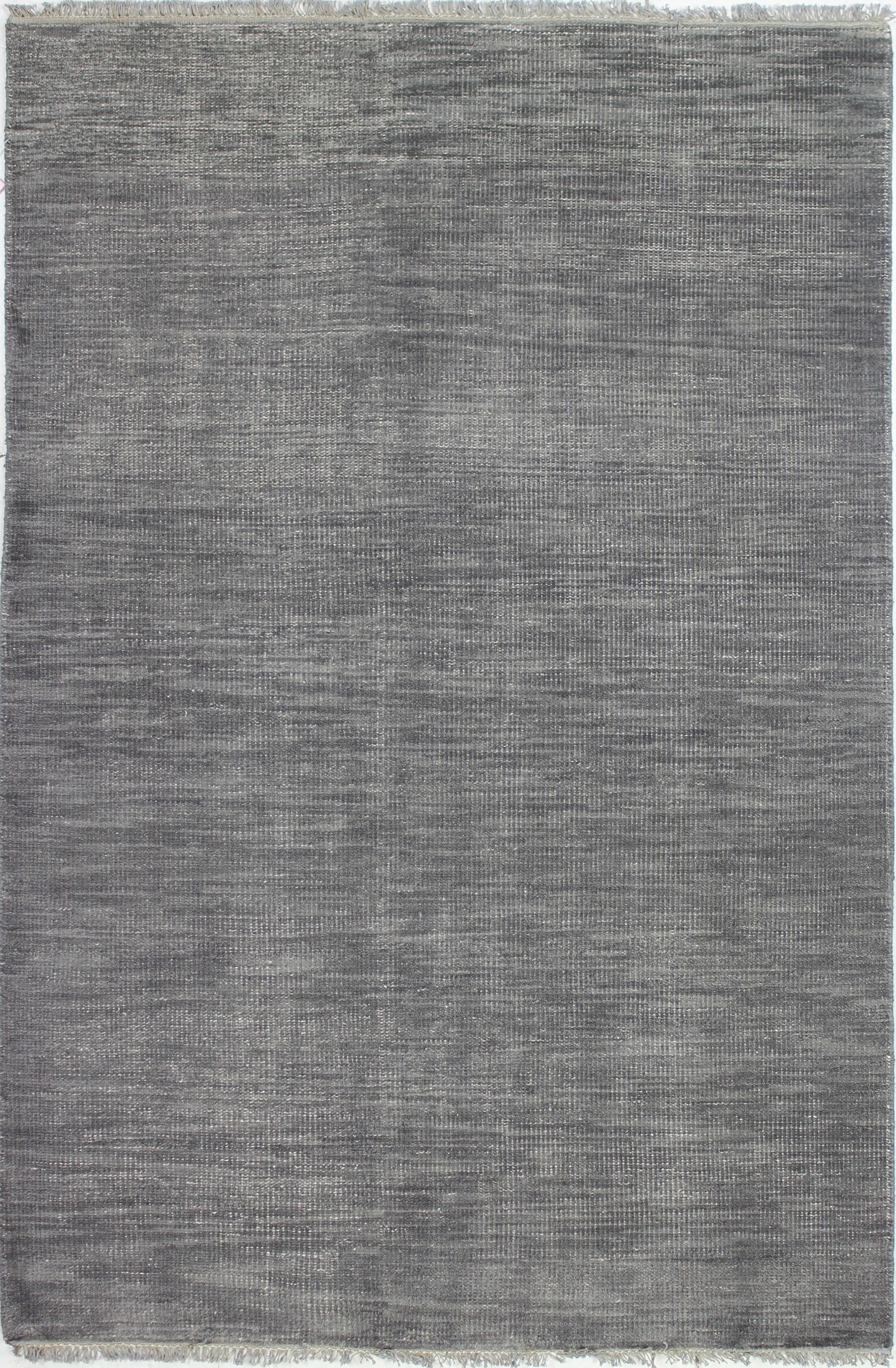 Kurtis Hand-Knotted Wool Grey Area Rug Rug Size: 5' x 7'6