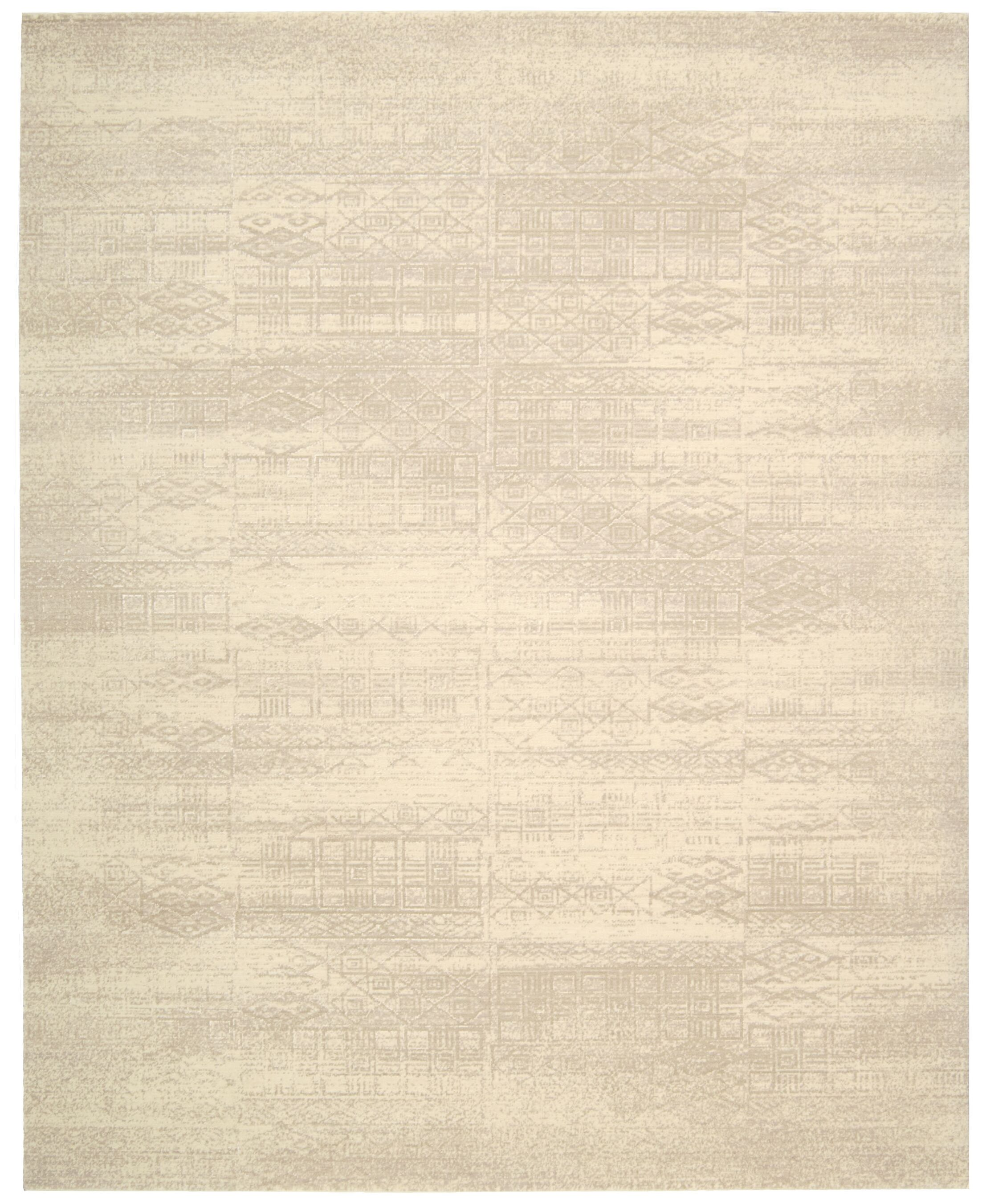 Soualem Gray/Ivory Area Rug Rug Size: Rectangle 9'9