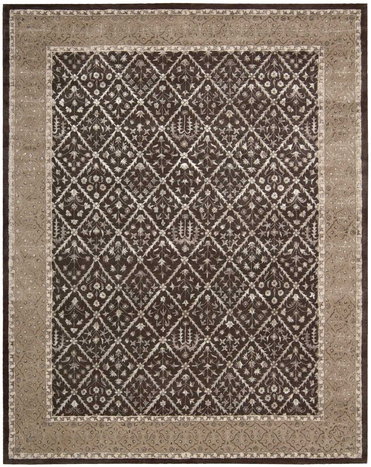 Veda Charcoal Area Rug Rug Size: Rectangle 7'6