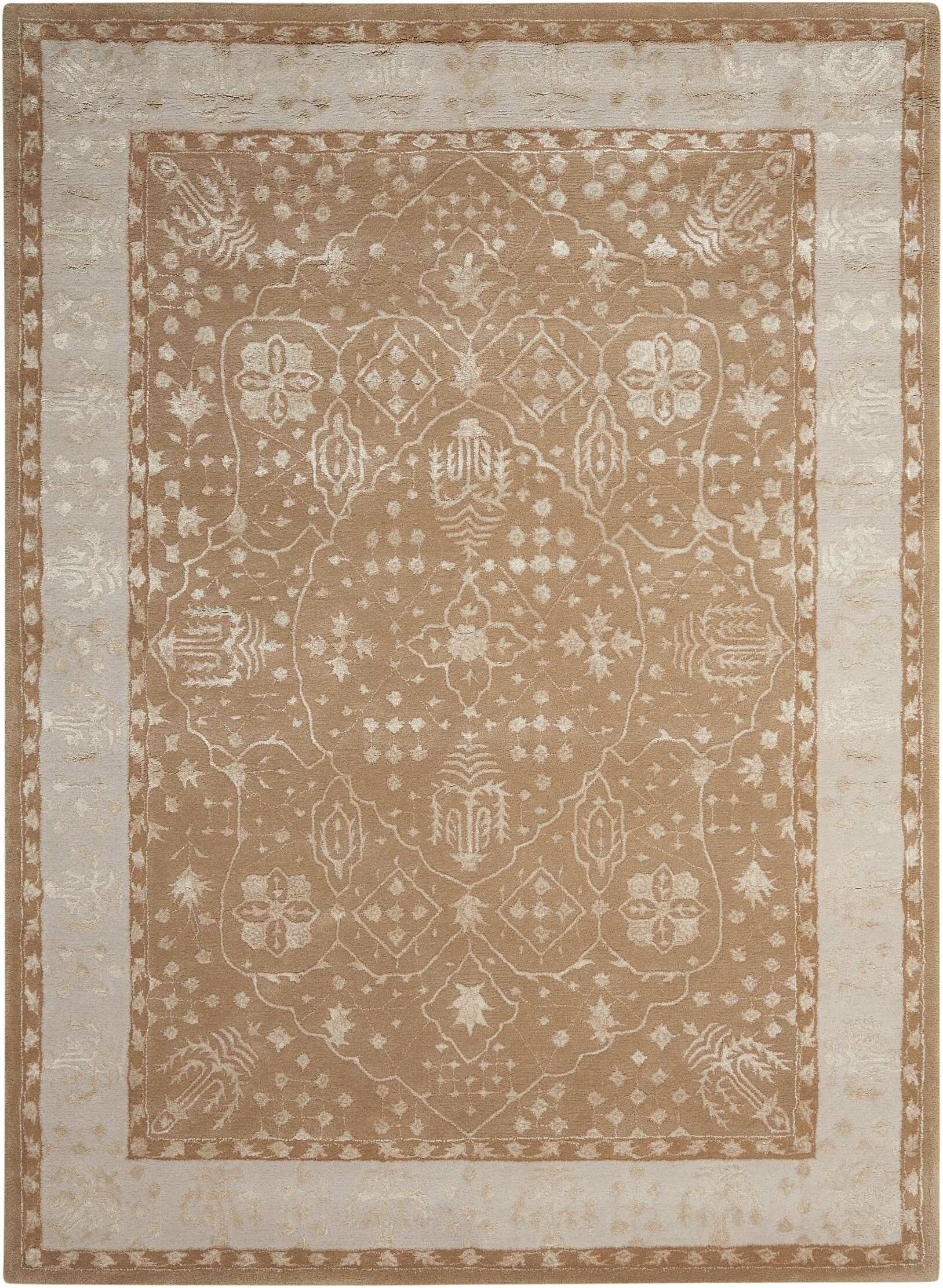 Veda Hand-Tufted Warm Taupe Area Rug Rug Size: Rectangle 3'6
