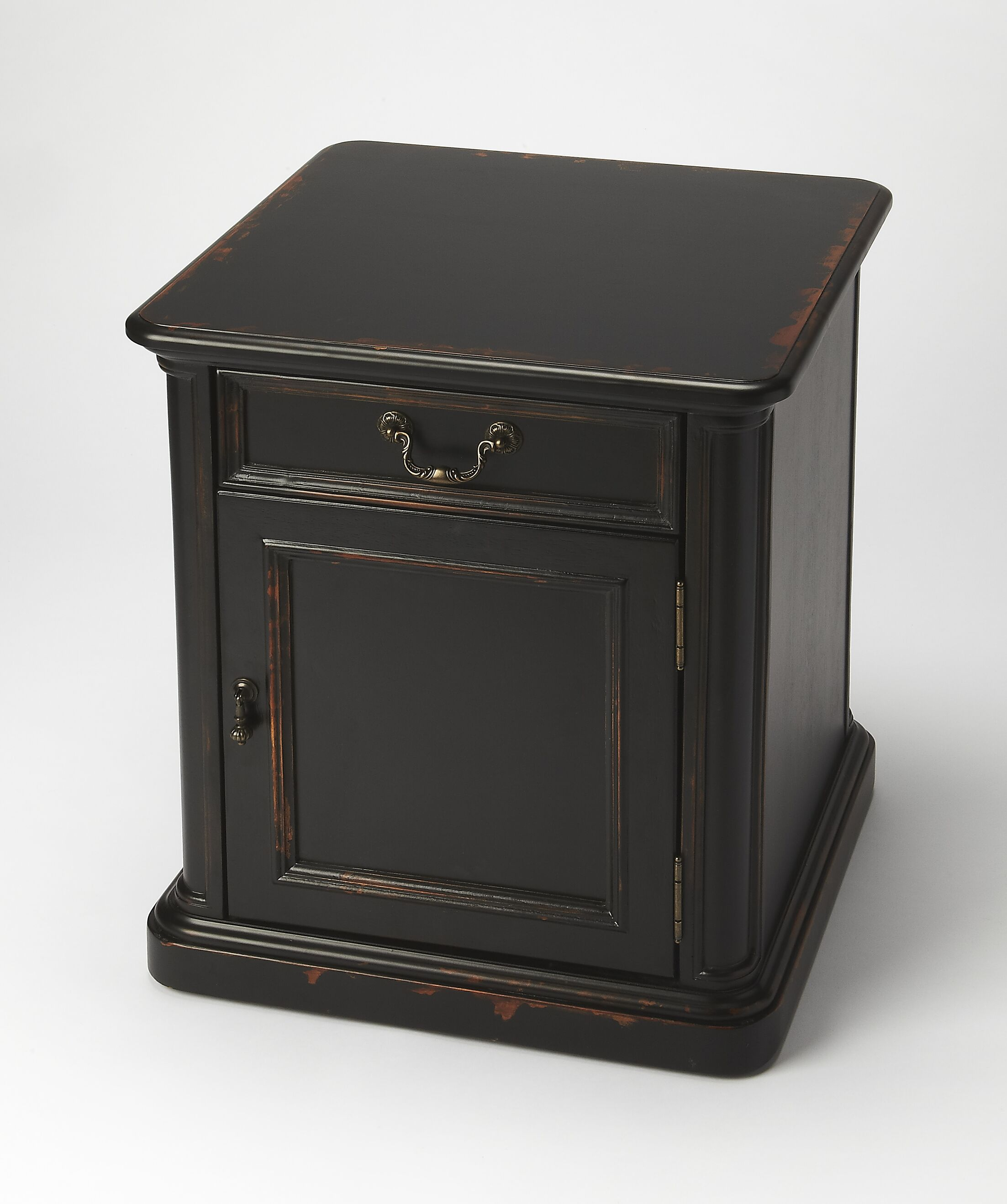 Grand Borendy End Table Color: Midnight Rose