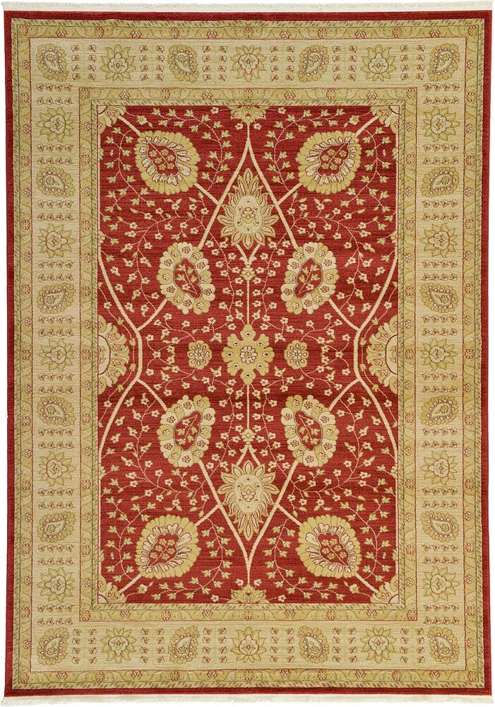 Fonciere Red Area Rug Rug Size: Rectangle 9' x 12'