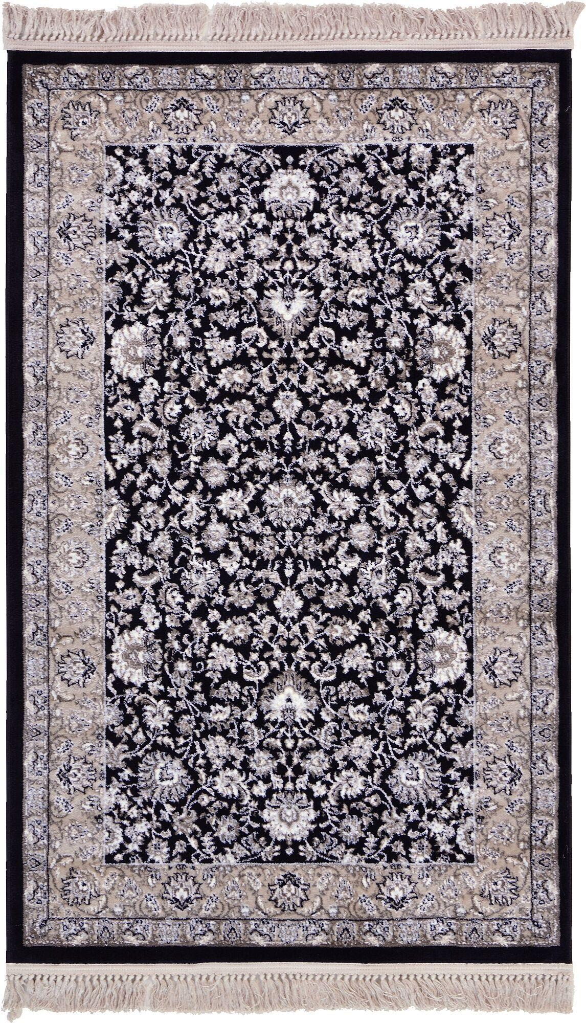Essehoul Black Area Rug Rug Size: Rectangle 5' x 8'