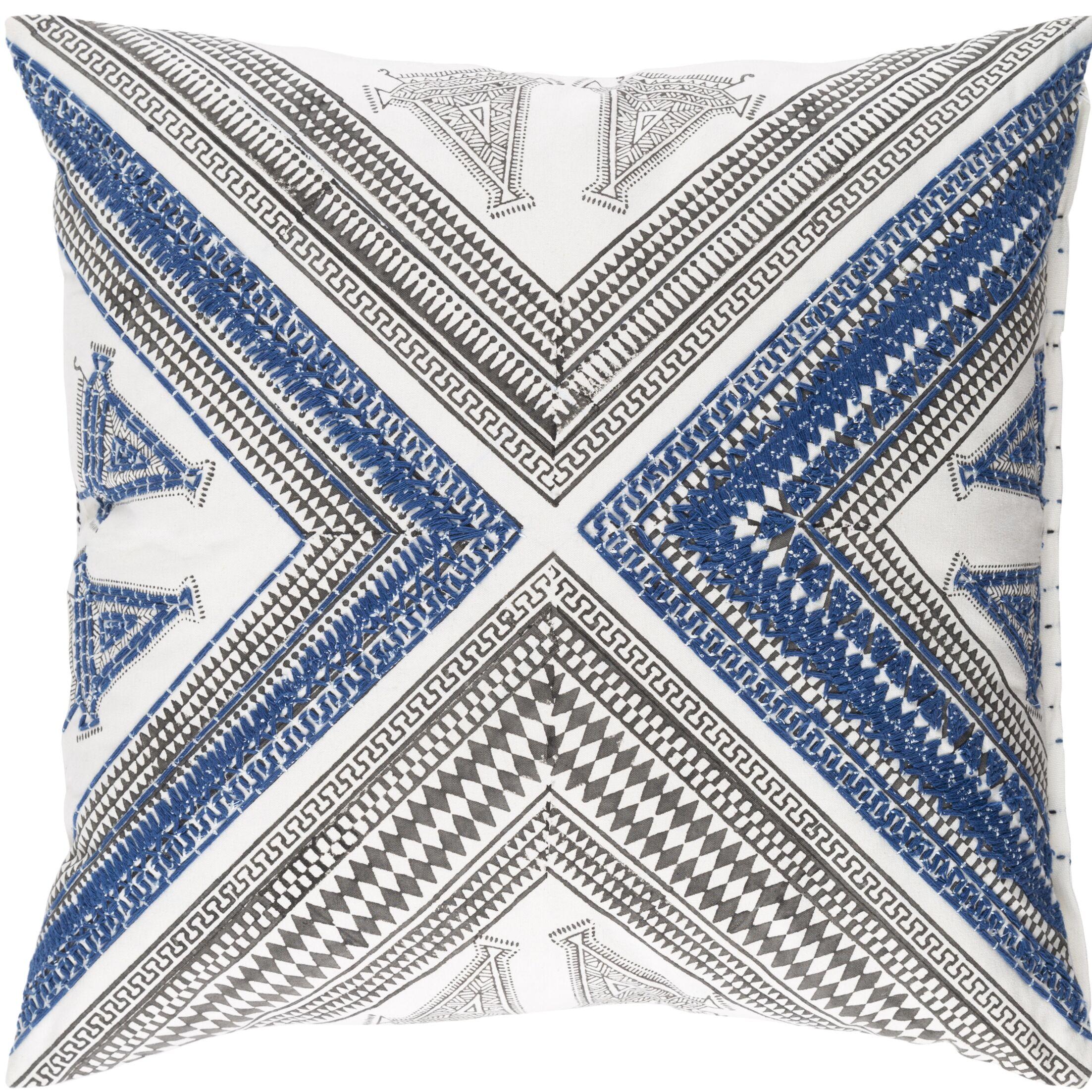 Amorita Throw Pillow Cover Size: 22