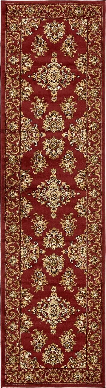 Snows Burgundy/Cream Area Rug Rug Size: Round 5'