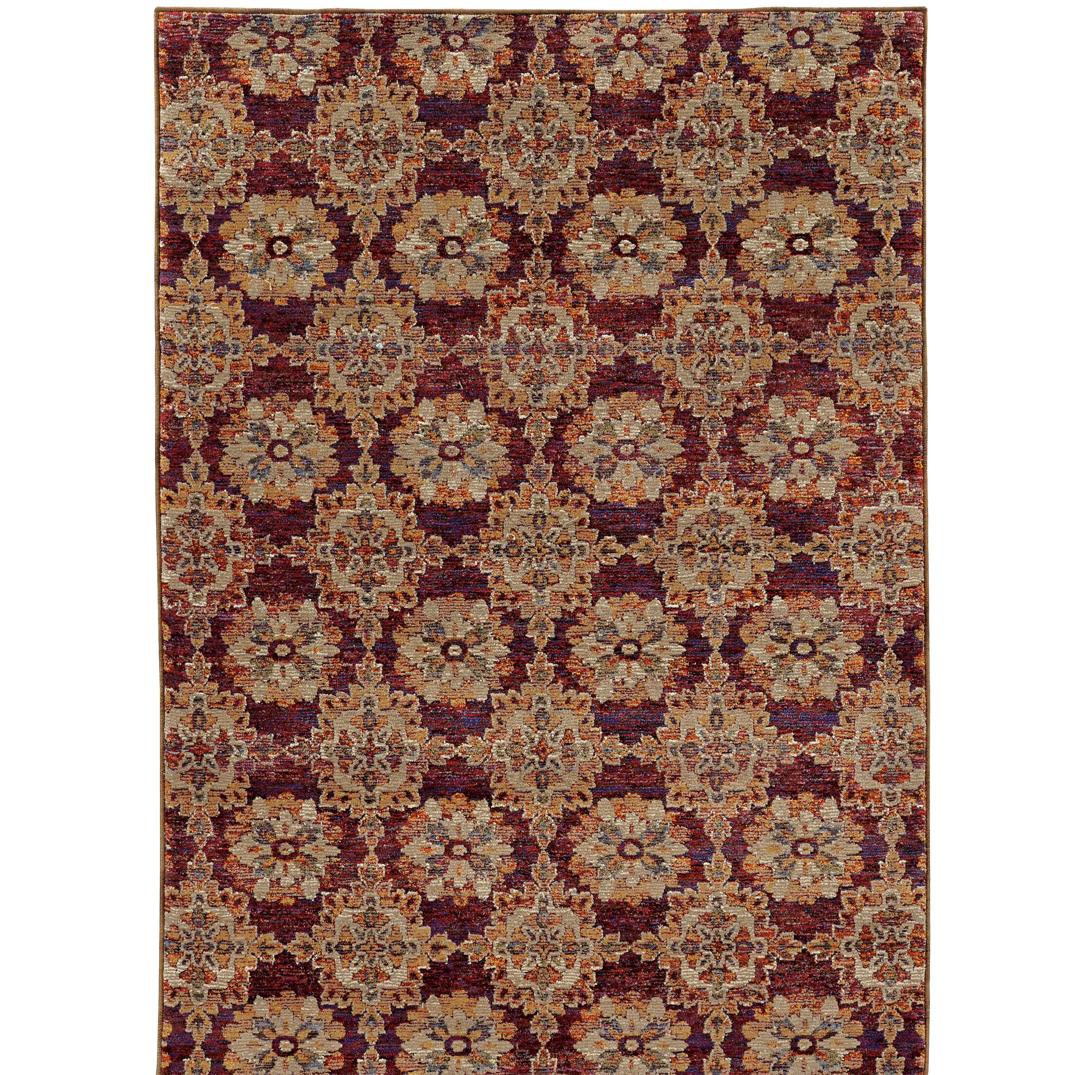 Rosalia Red/Orange Area Rug Rug Size: Rectangle 8'6