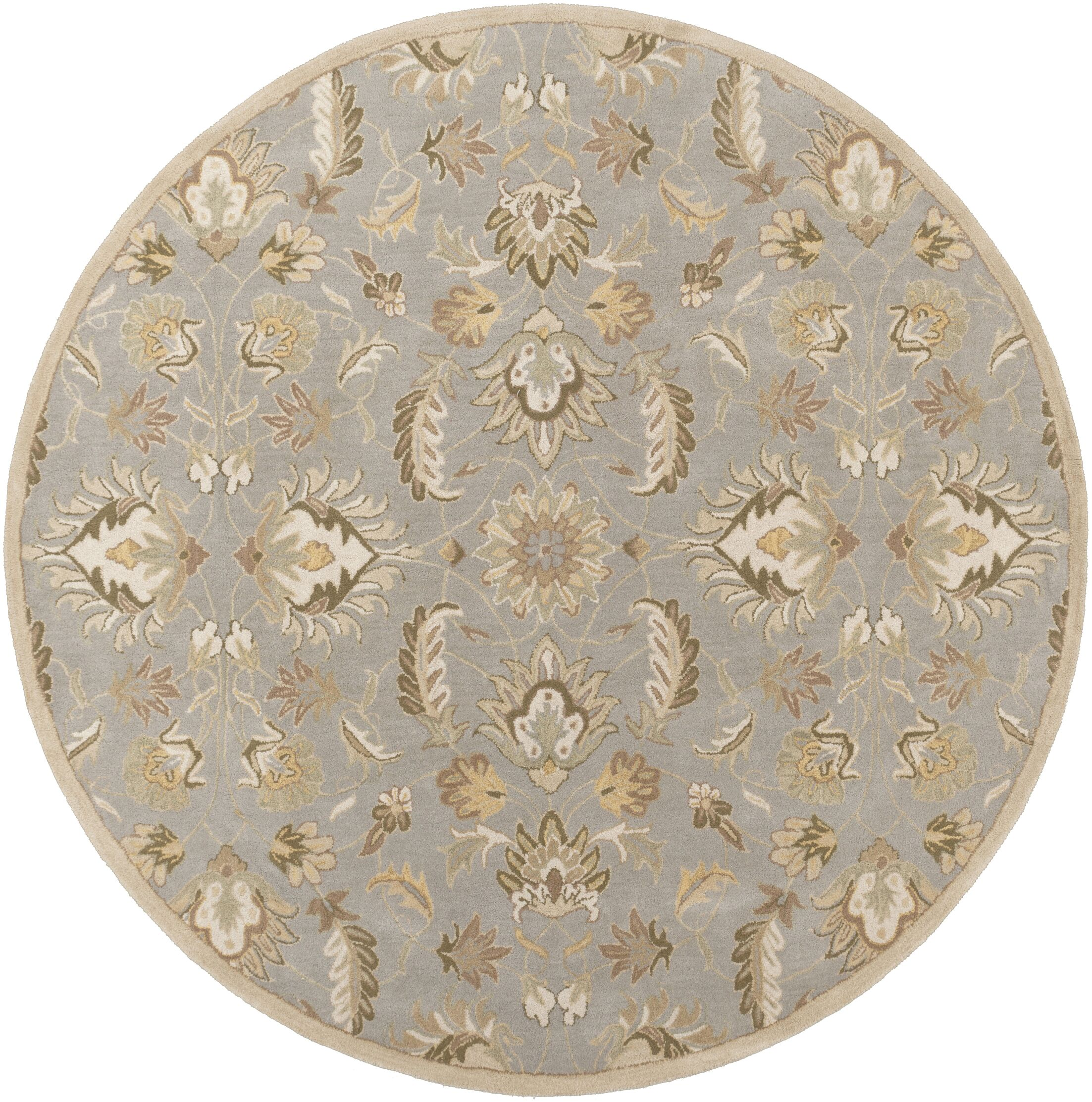 Topaz Hand-Tufte Olive/Taupe Area Rug Rug Size: Rectangle 6' x 9'
