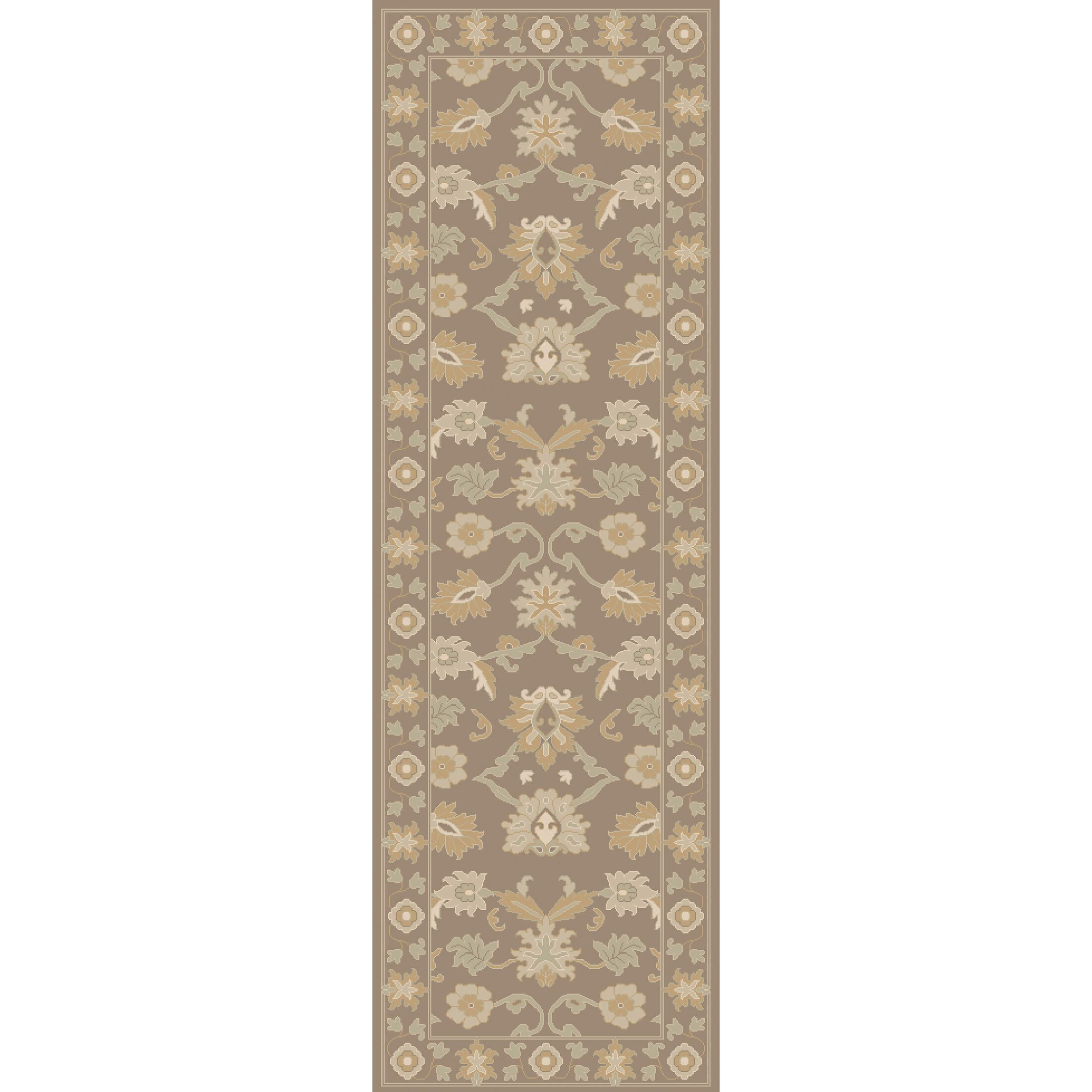 Keefer Hand-Tufted Taupe Area Rug Rug Size: Square 9'9