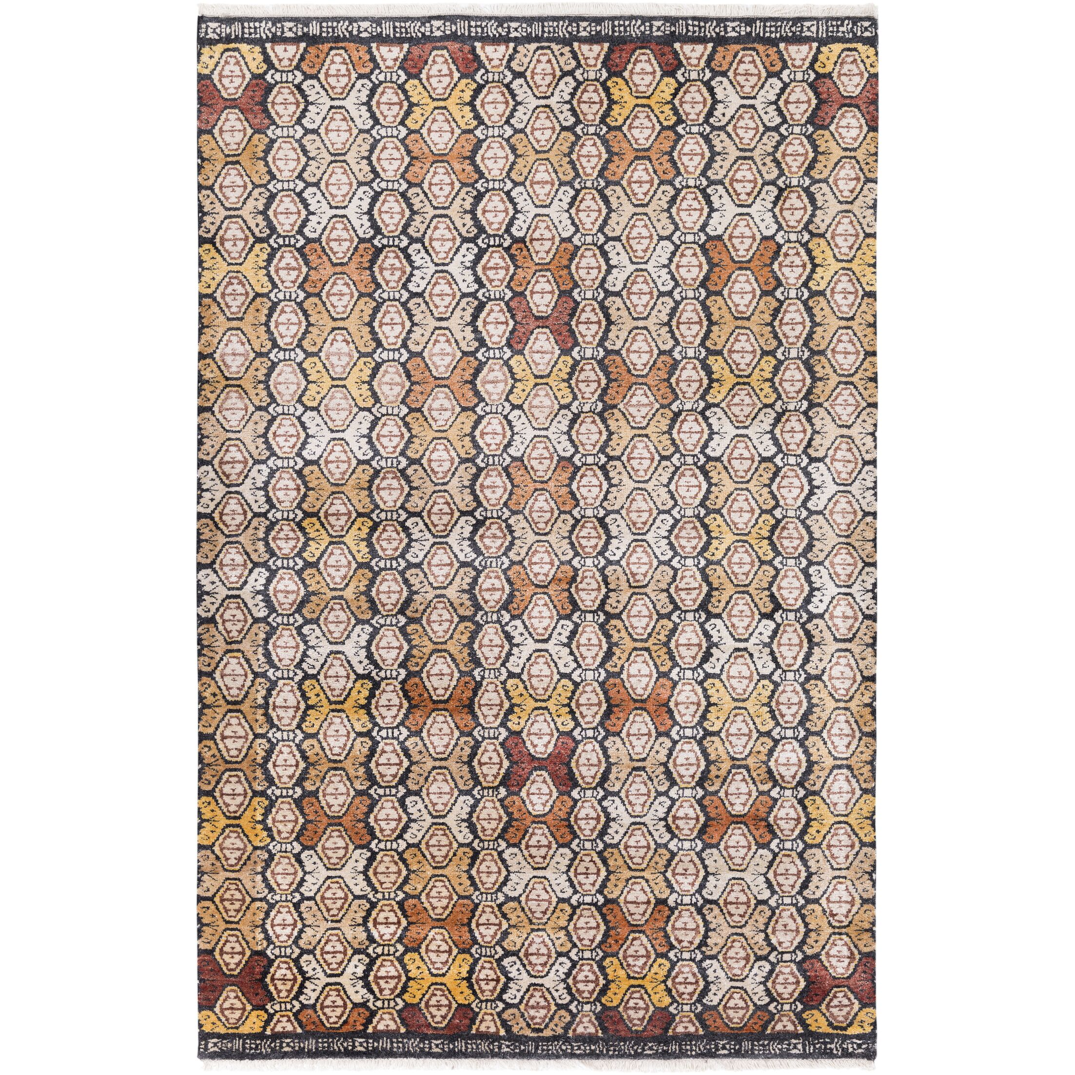 Seline Hand-Knotted Wool Neutral/Brown Area Rug Rug Size: Rectangle 2' x 3'