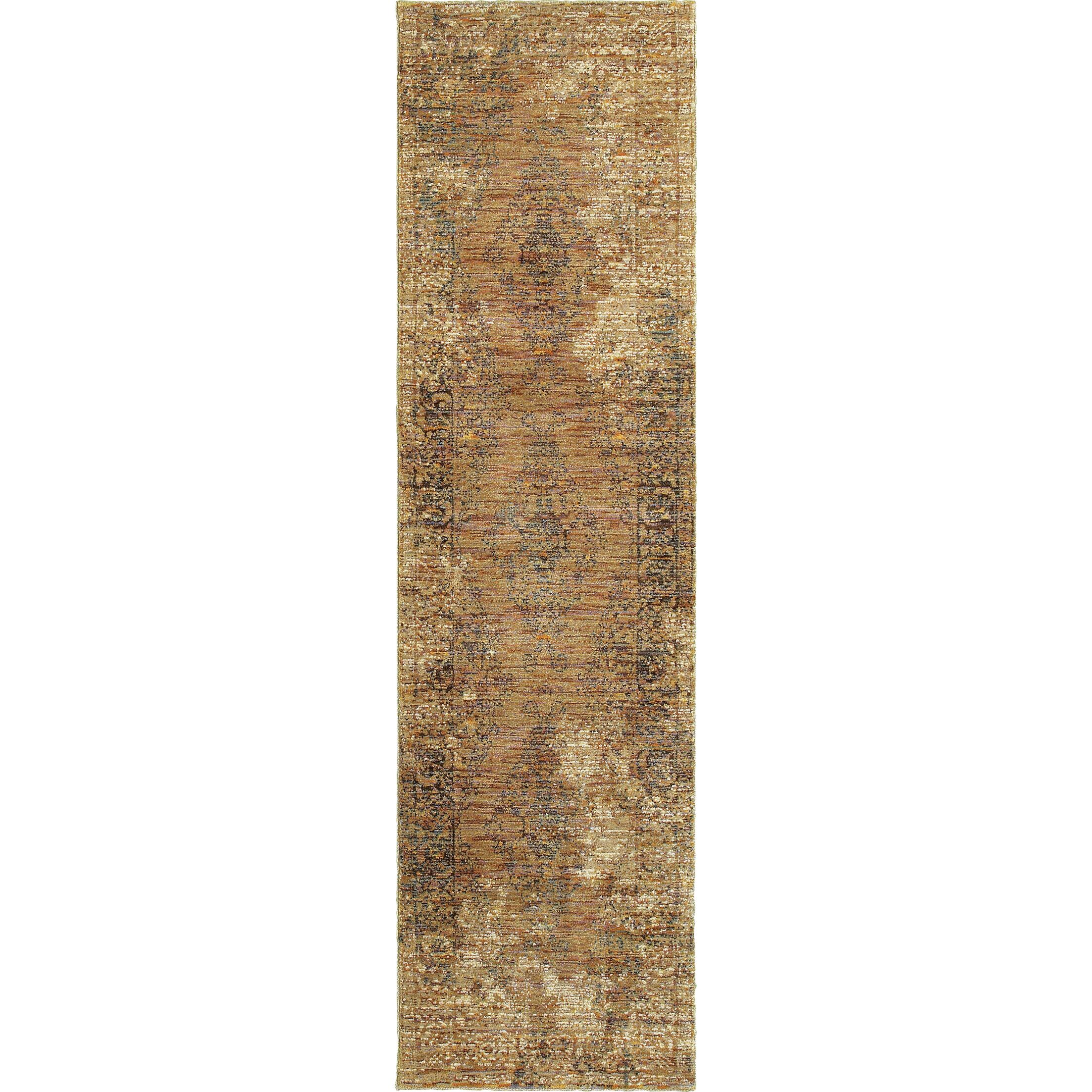 Rosalia Distressed Brown Area Rug Rug Size: Runner 2'2