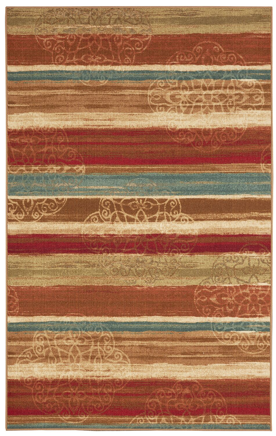 Castellano Red/Beige Area Rug Rug Size: Rectangle 7'6