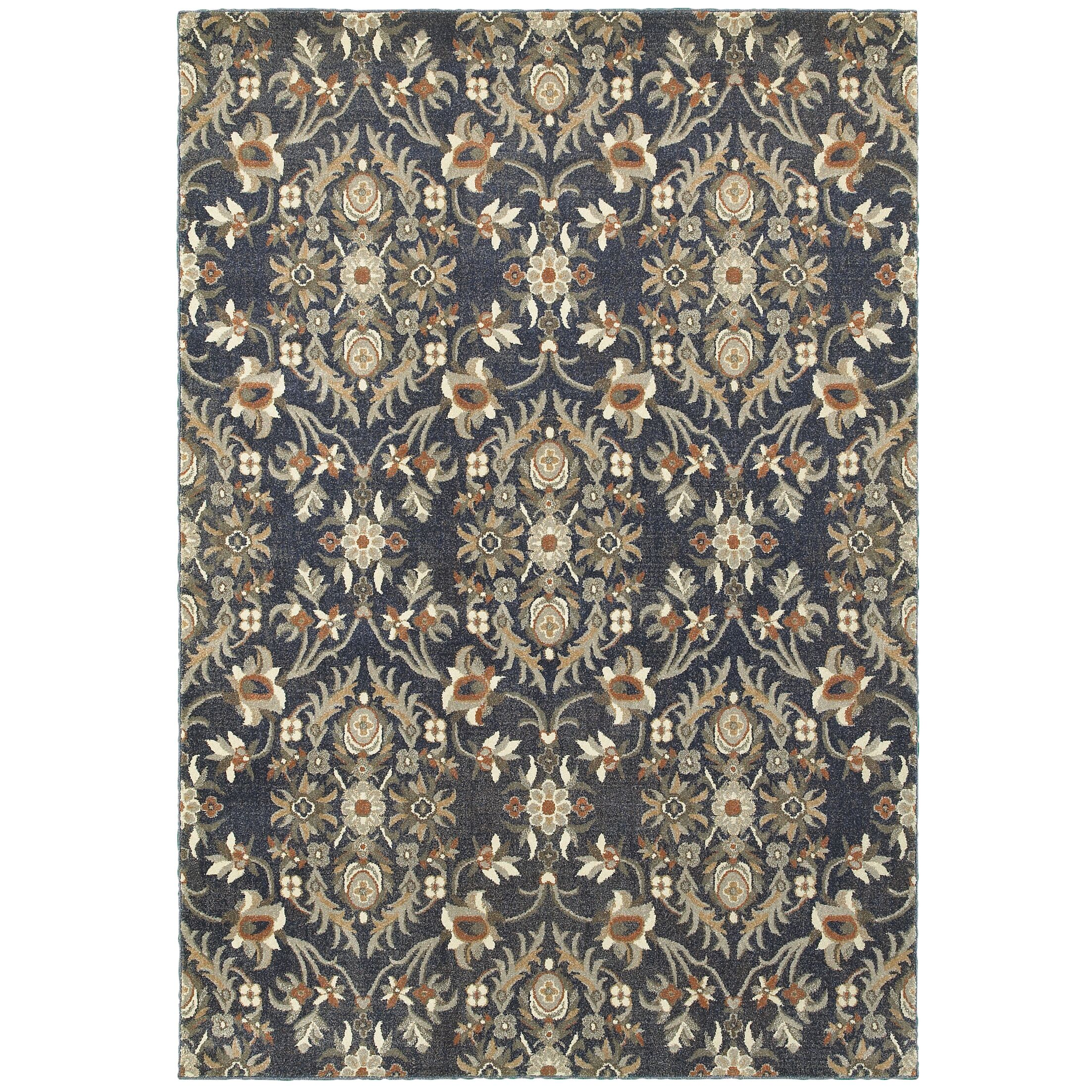 Sacha Black/Brown Area Rug Rug Size: Rectangle 3'10
