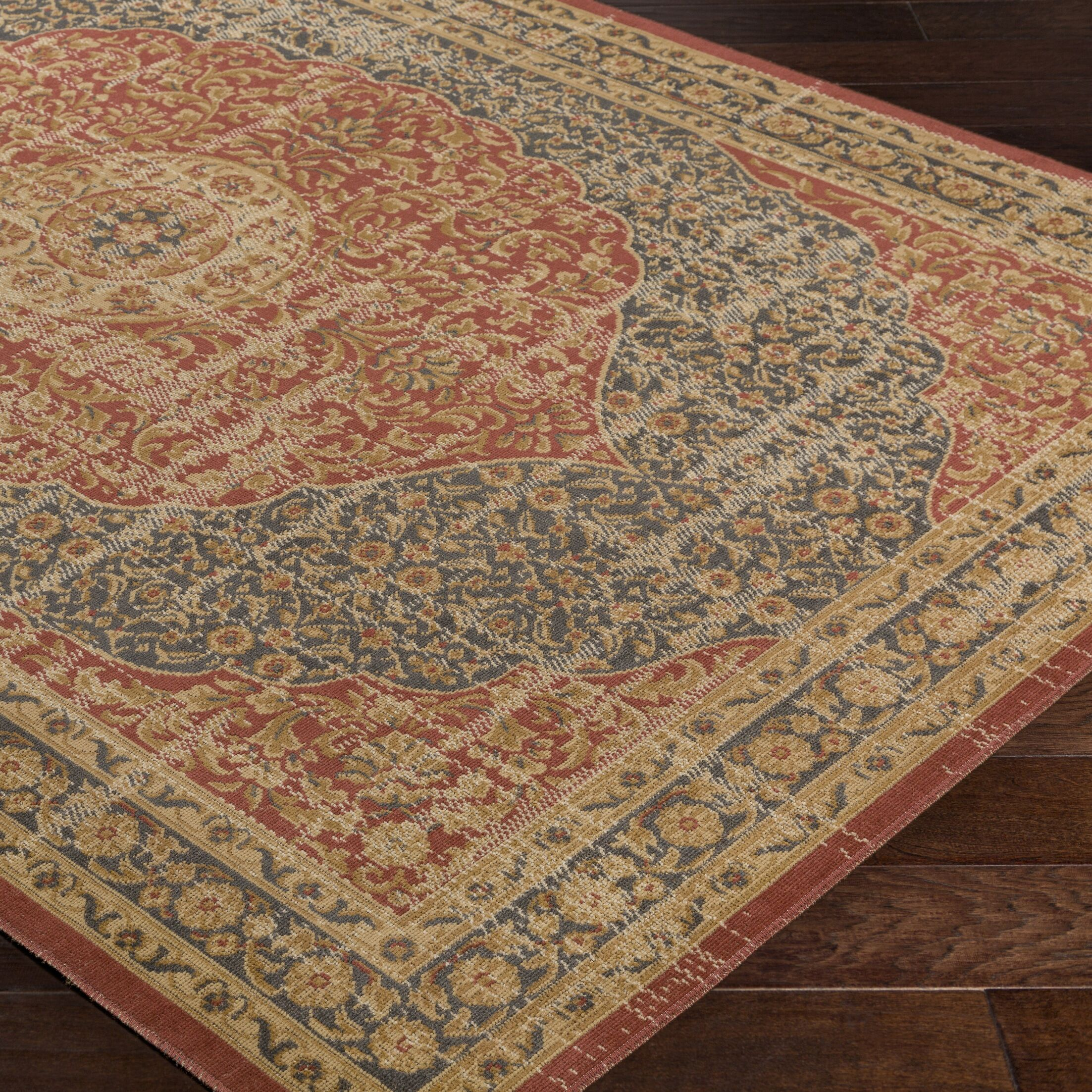 Cerys Traditional Brown Area Rug Rug Size: Rectangle 7'6