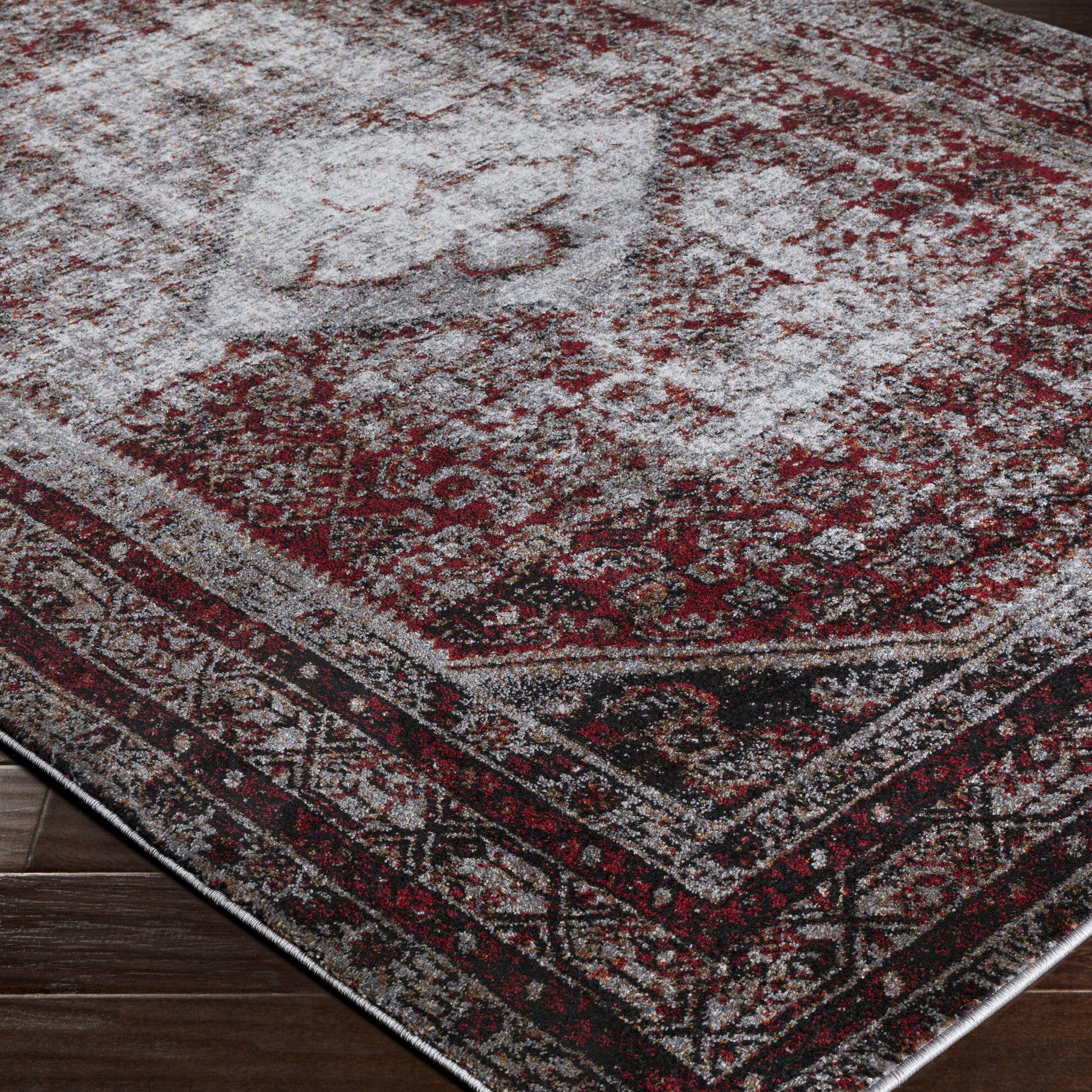 Chani Gray / Black Area Rug Rug Size: Rectangle 3'11