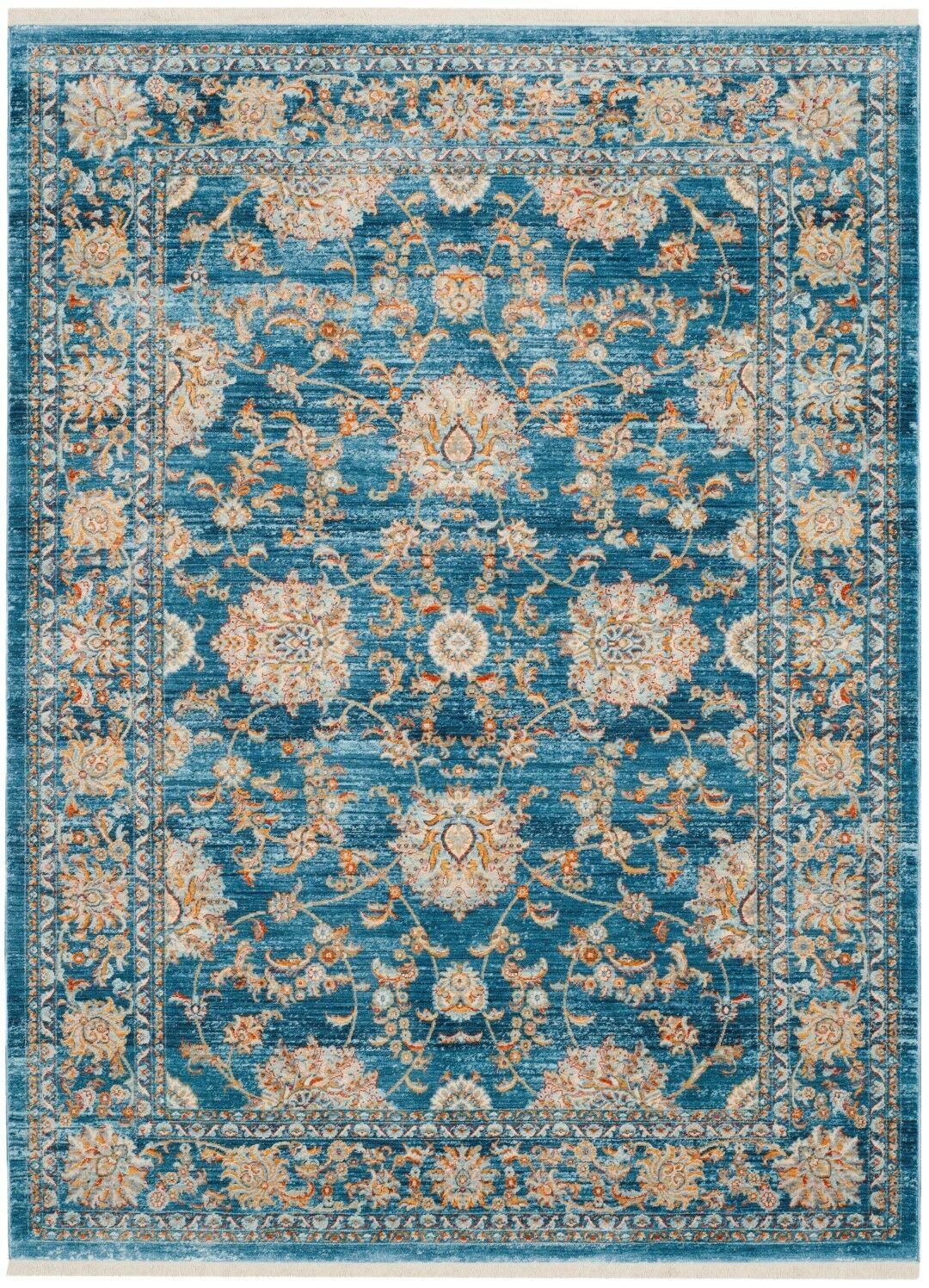 Elvie Brown/ Blue Area Rug Rug Size: Rectangle 4' x 6'