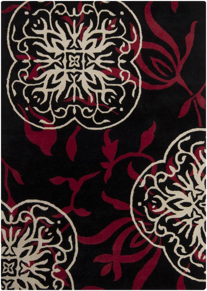 Fraher Black Area Rug Rug Size: Rectangle 7' x 10'