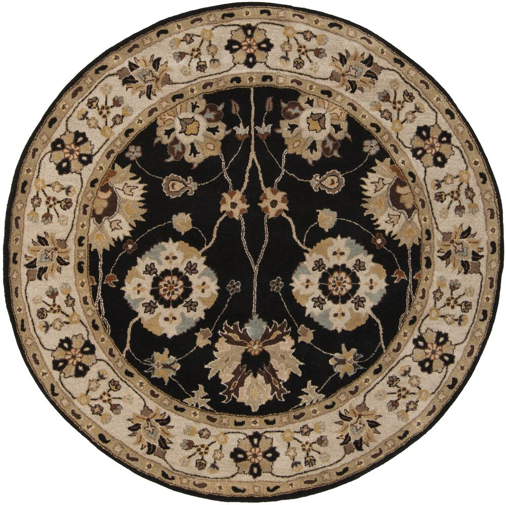 Topaz Hand-Tufted Wool Beige Area Rug Rug Size: Square 4'