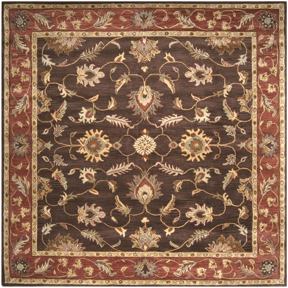 Keefer Chocolate/Tan Area Rug Rug Size: Square 8'