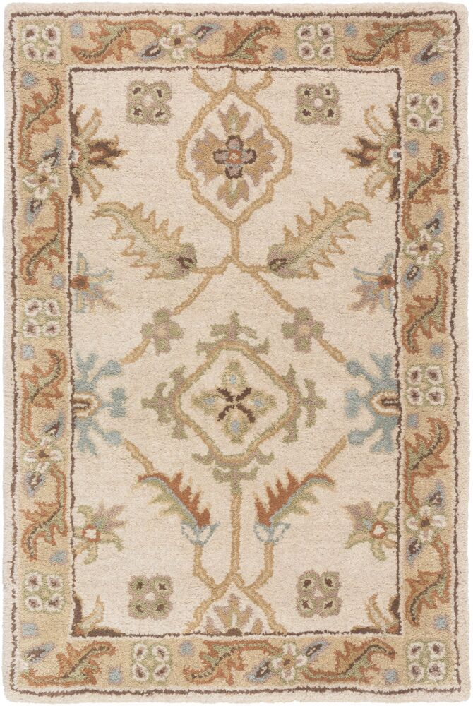 Topaz Brown/Tan Floral Area Rug Rug Size: Rectangle 7'6