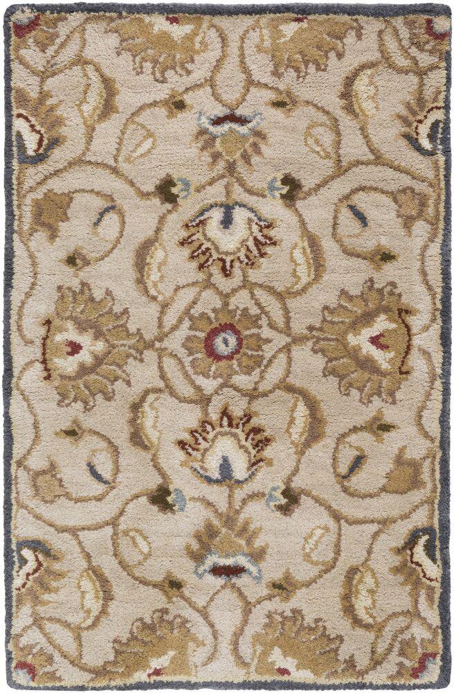Topaz Blond Floral Area Rug Rug Size: Rectangle 6' x 9'