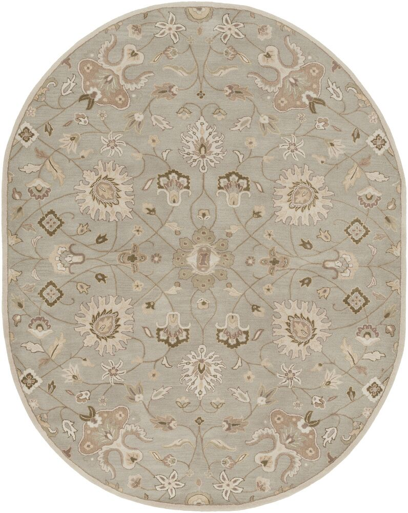 Topaz Pigeon Muted Green Floral Area Rug Rug Size: Rectangle 8' x 11'