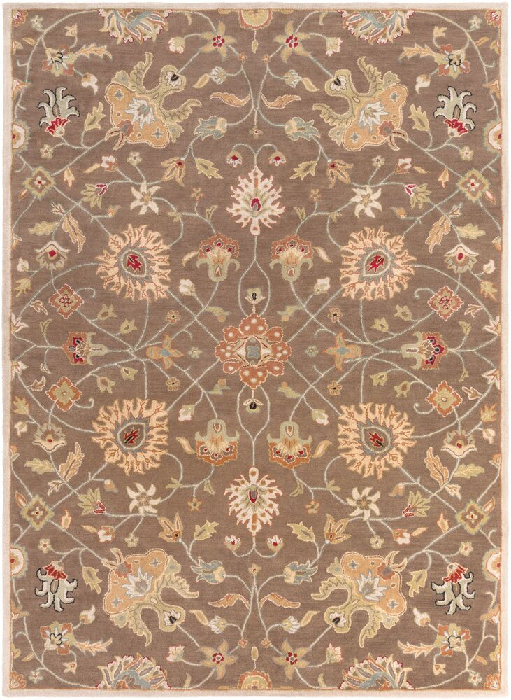 Topaz Dark Brown Floral Area Rug Rug Size: Runner 3' x 12'