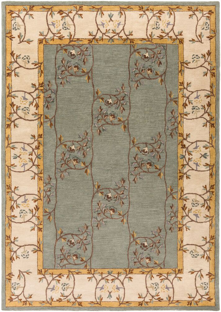 Keefer Gray Floral Area Rug Rug Size: Rectangle 8' x 11'