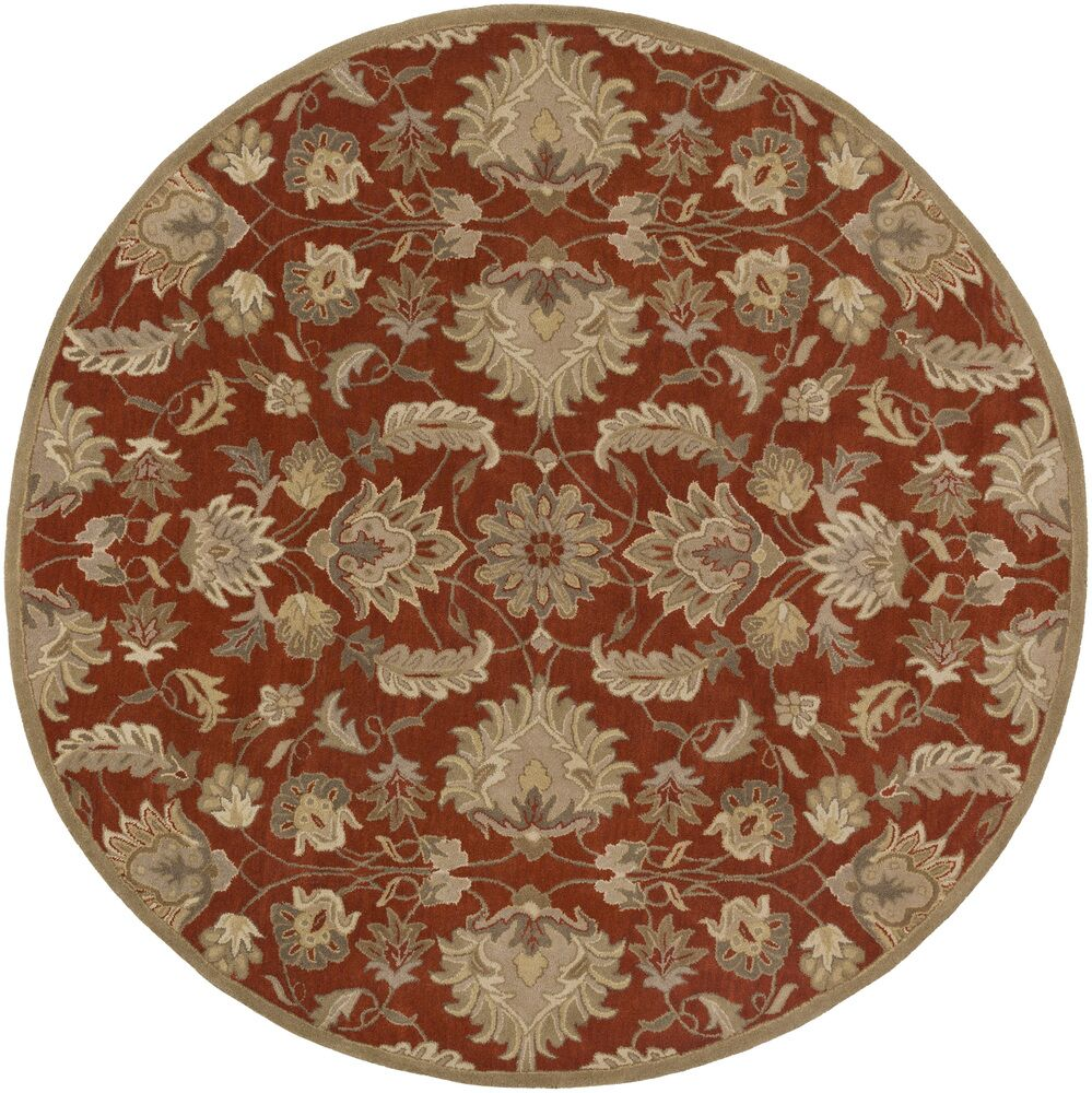 Topaz Hand-Tufted Area Rug Rug Size: Square 4'