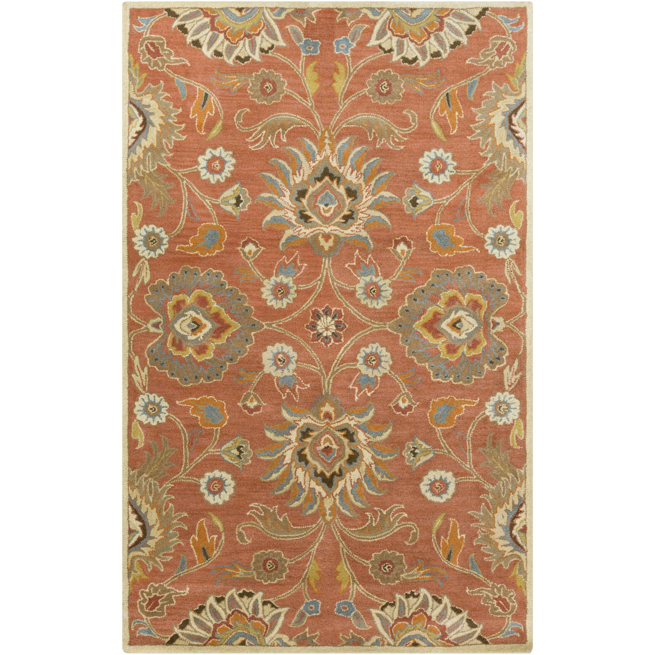 Phoebe Burnt Orange Hand-Woven Wool Area Rug Rug Size: Rectangle 8' x 11'