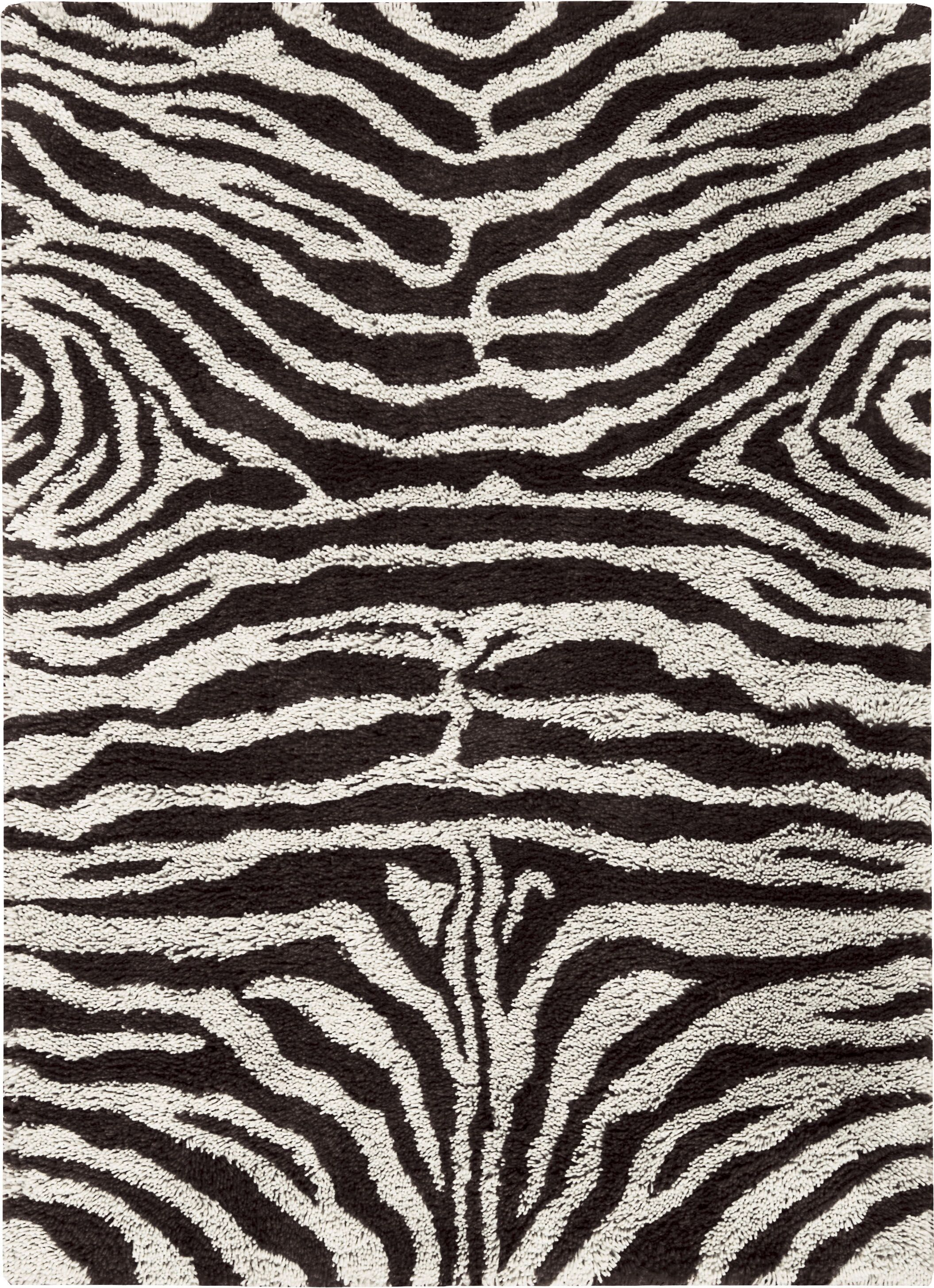 Rosalba Hand-Tufted Black/White Area Rug Rug Size: Rectangle 7'6