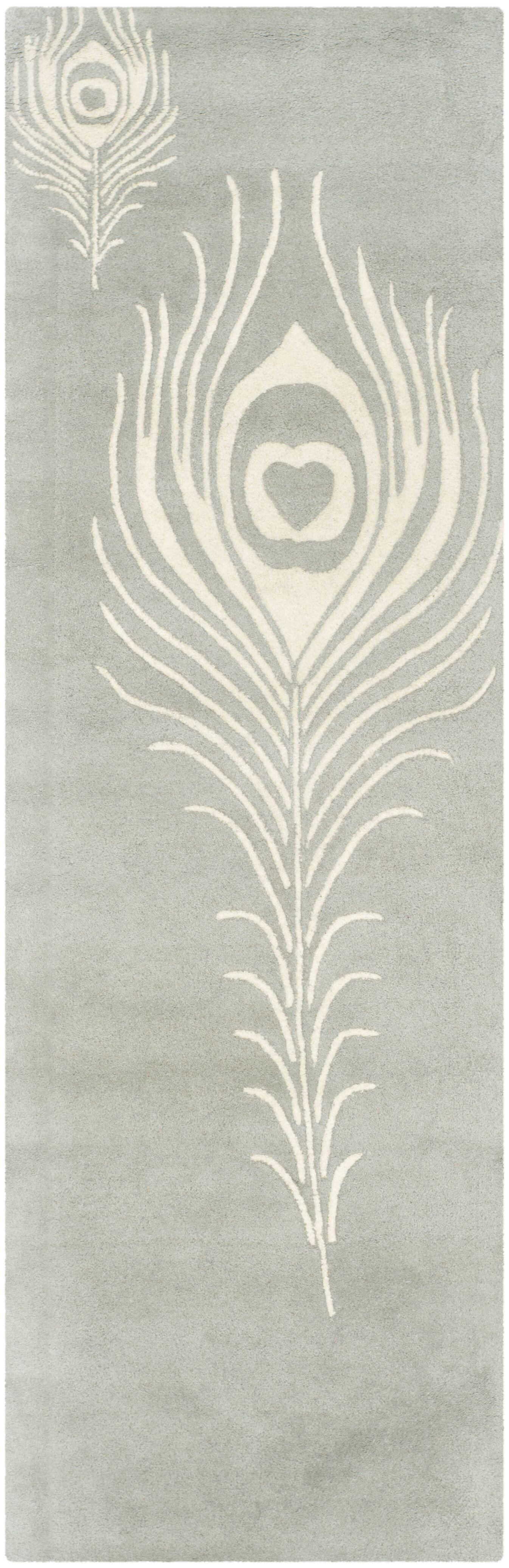 Dorthy Grey / Ivory Contemporary Rug Rug Size: Runner 2'6