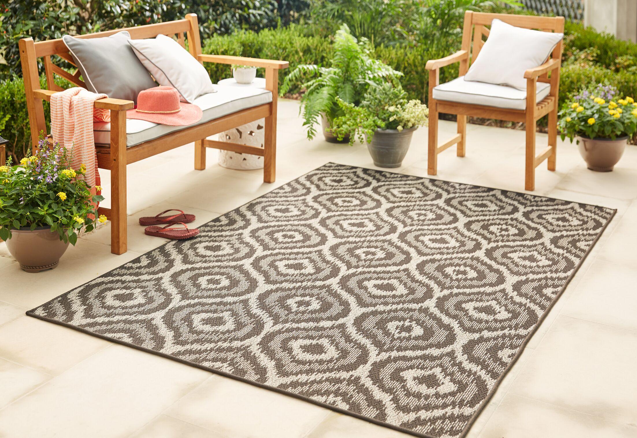 Holubov Indoor/Outdoor Area Rug Rug Size: Rectangle 5'3