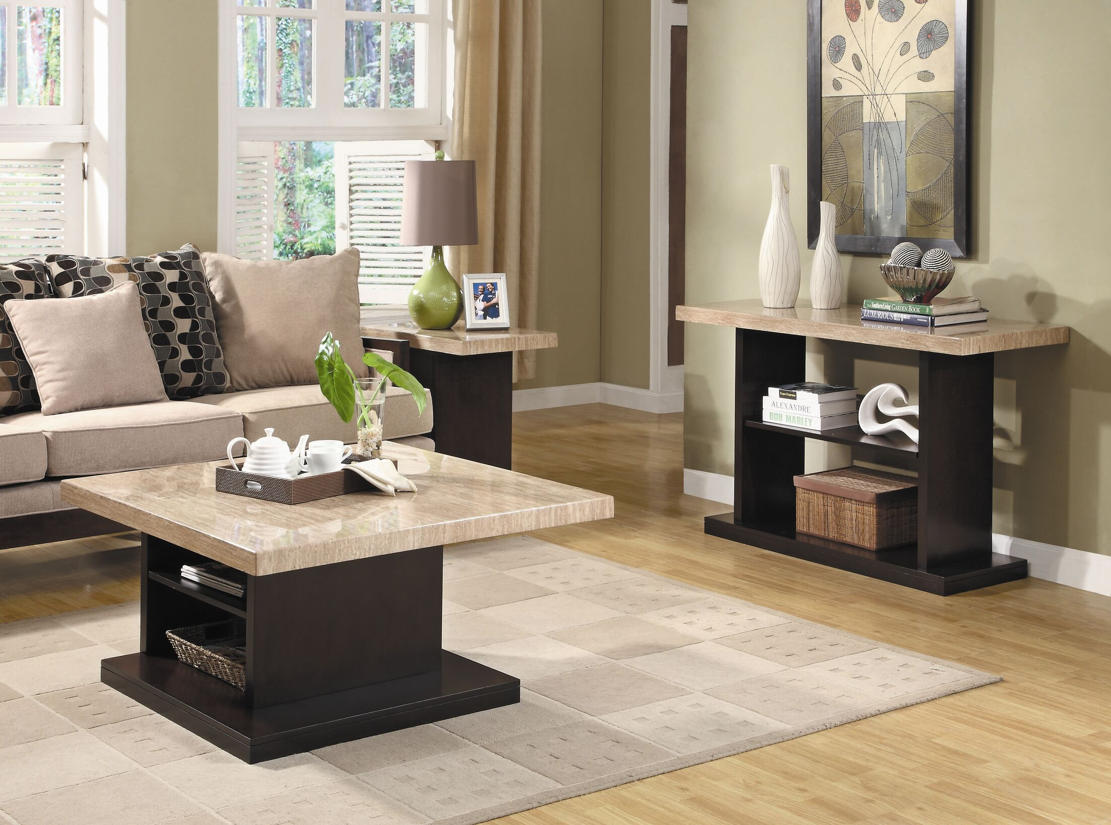 India 3 Piece Coffee Table Set