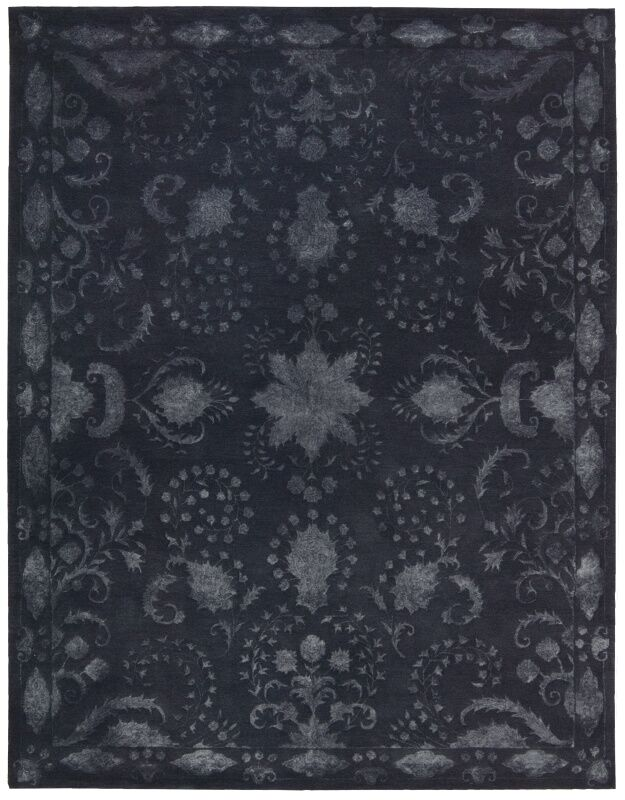 Veda Indigo Area Rug Rug Size: Rectangle 5'6