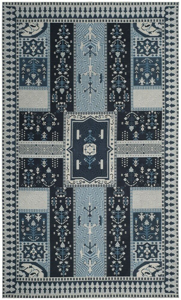 Essie Blue Area Rug Rug Size: Rectangle 4' x 6'