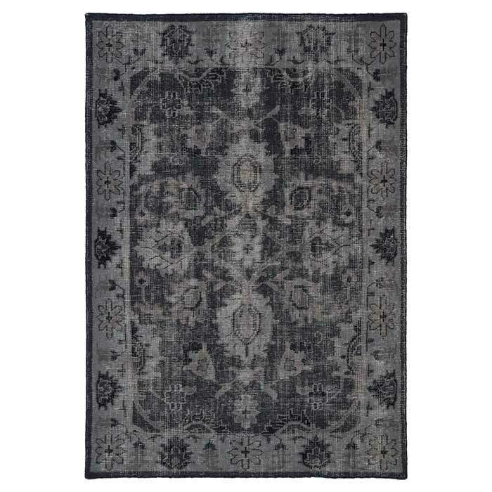 Deol Black Area Rug Rug Size: Rectangle 9' x 12'