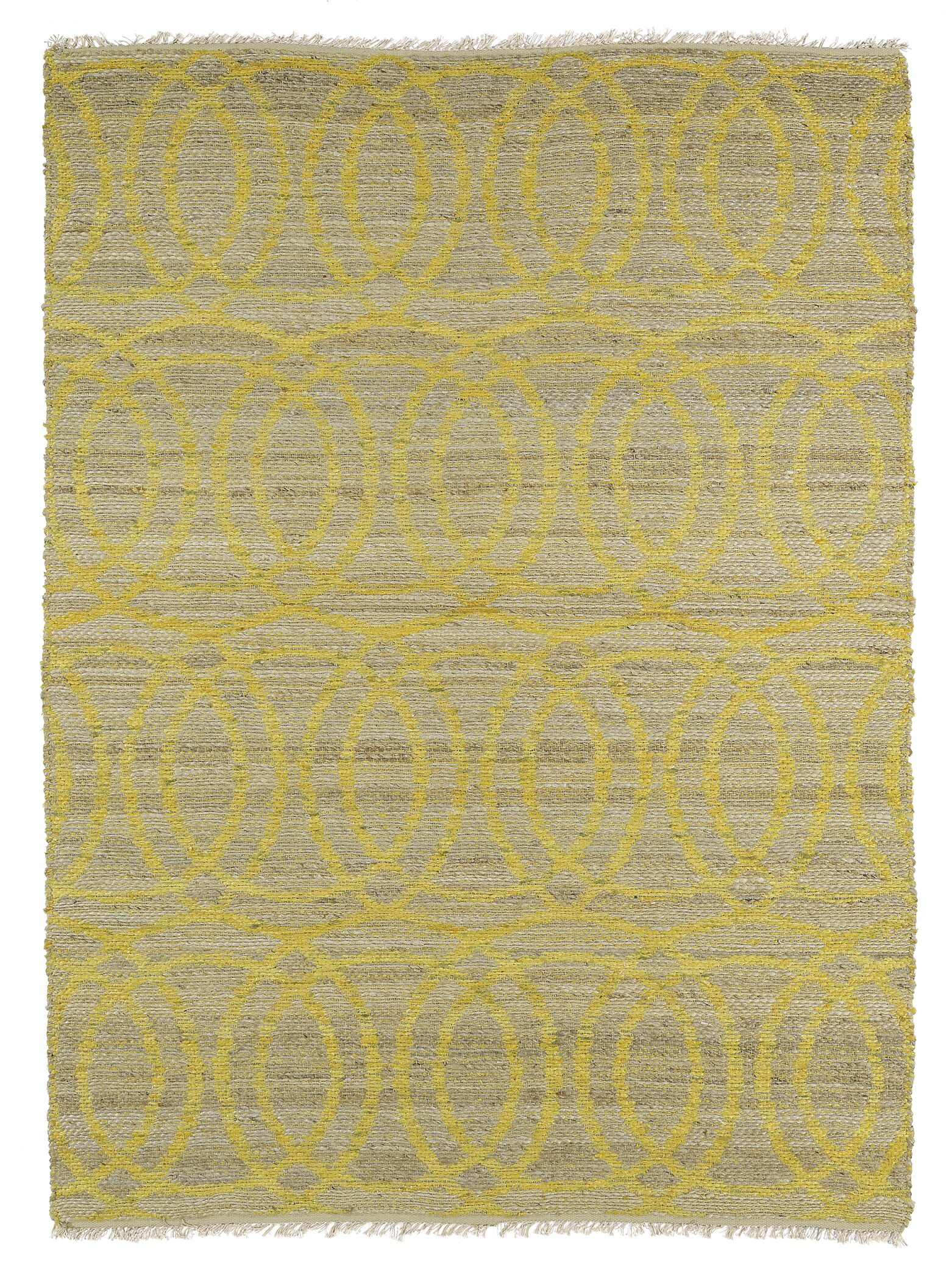 Jamaris Yellow Area Rug Rug Size: Rectangle 8' x 11'