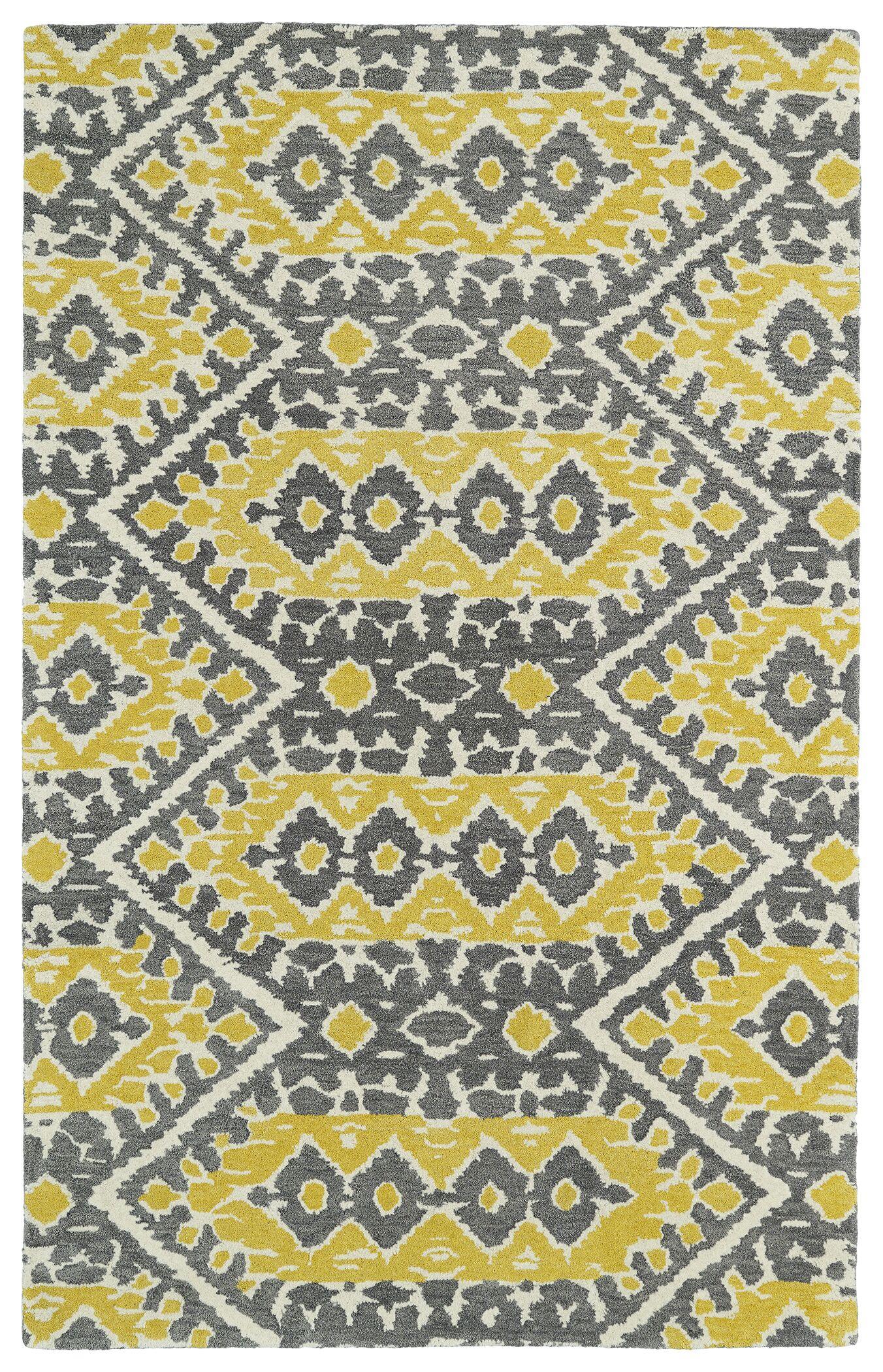 Kasa Yellow Area Rug Rug Size: Rectangle 9' x 12'