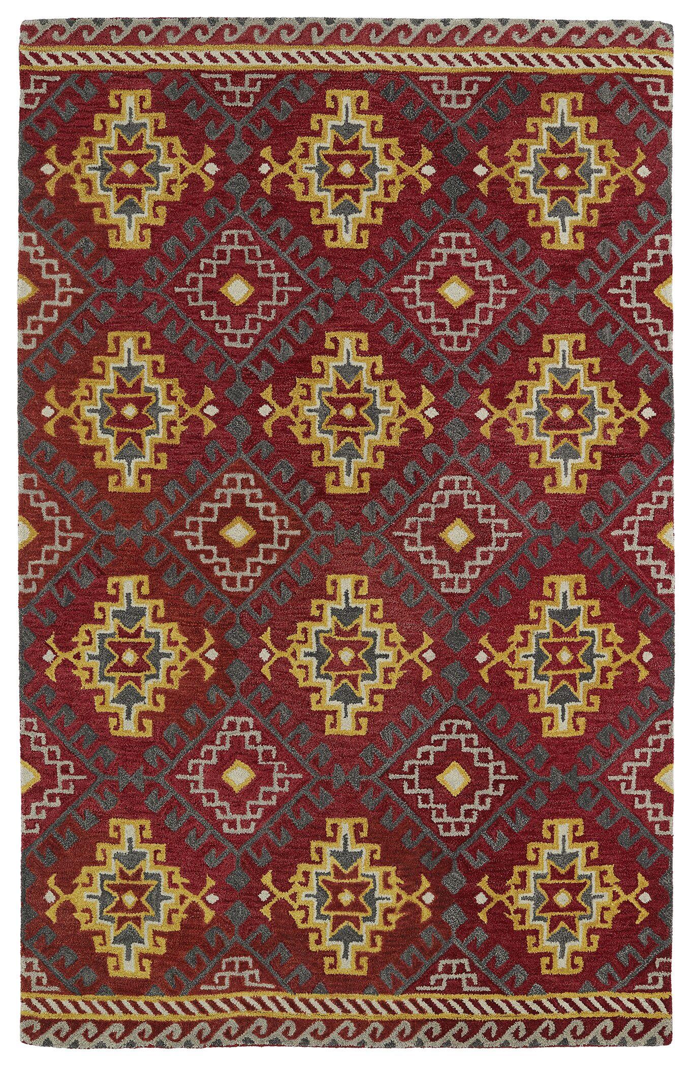 Kasa Red Area Rug Rug Size: Rectangle 5' x 7'9