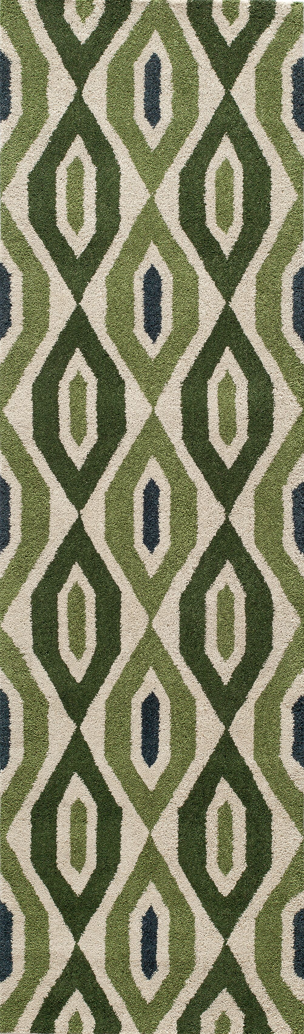 Elvera Hand-Tufted Green Area Rug Rug Size: Runner 2'3