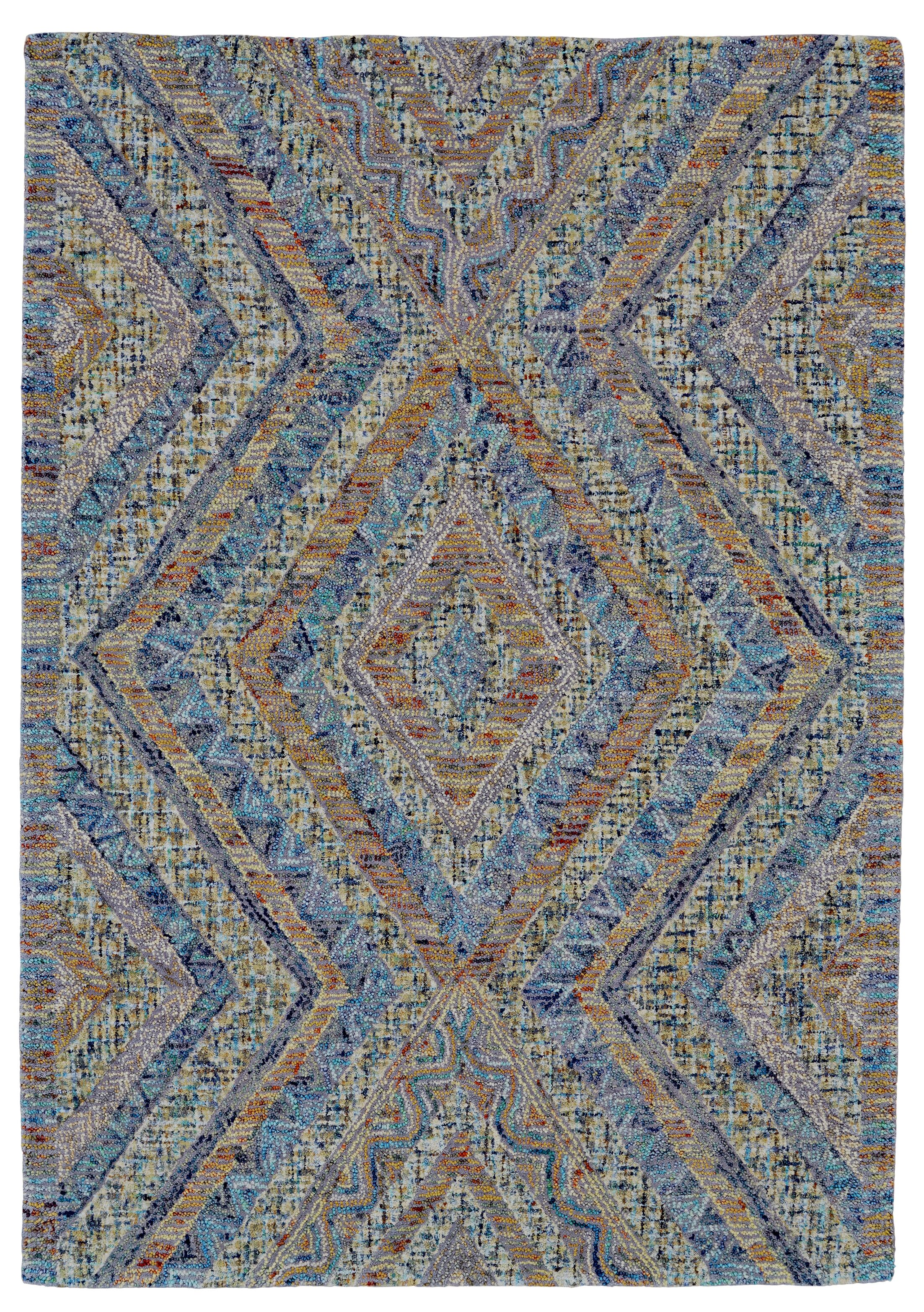 Haeli Hand-Tufted Blue/Gray Area Rug Rug Size: Runner 2'6