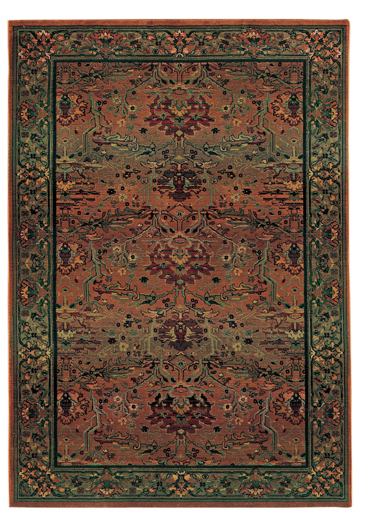 Rosabel Traditional Stain Resistant Red/Green Area Rug Rug Size: Rectangle 6'7