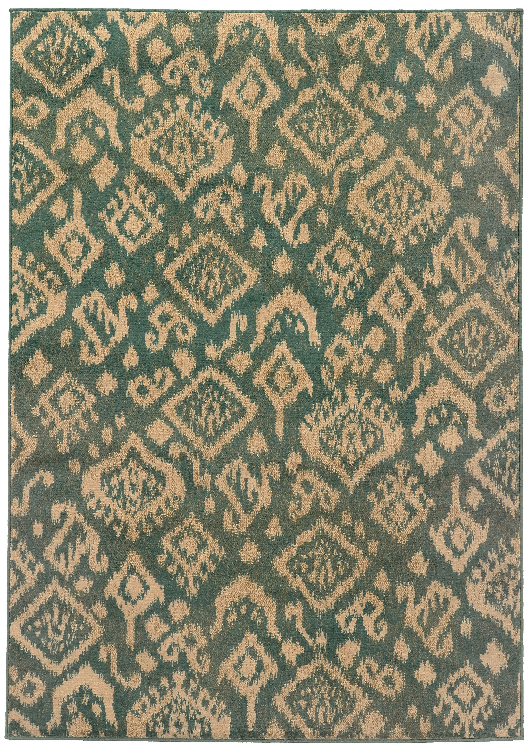 Sonora Blue/Beige Area Rug Rug Size: Rectangle 3'3