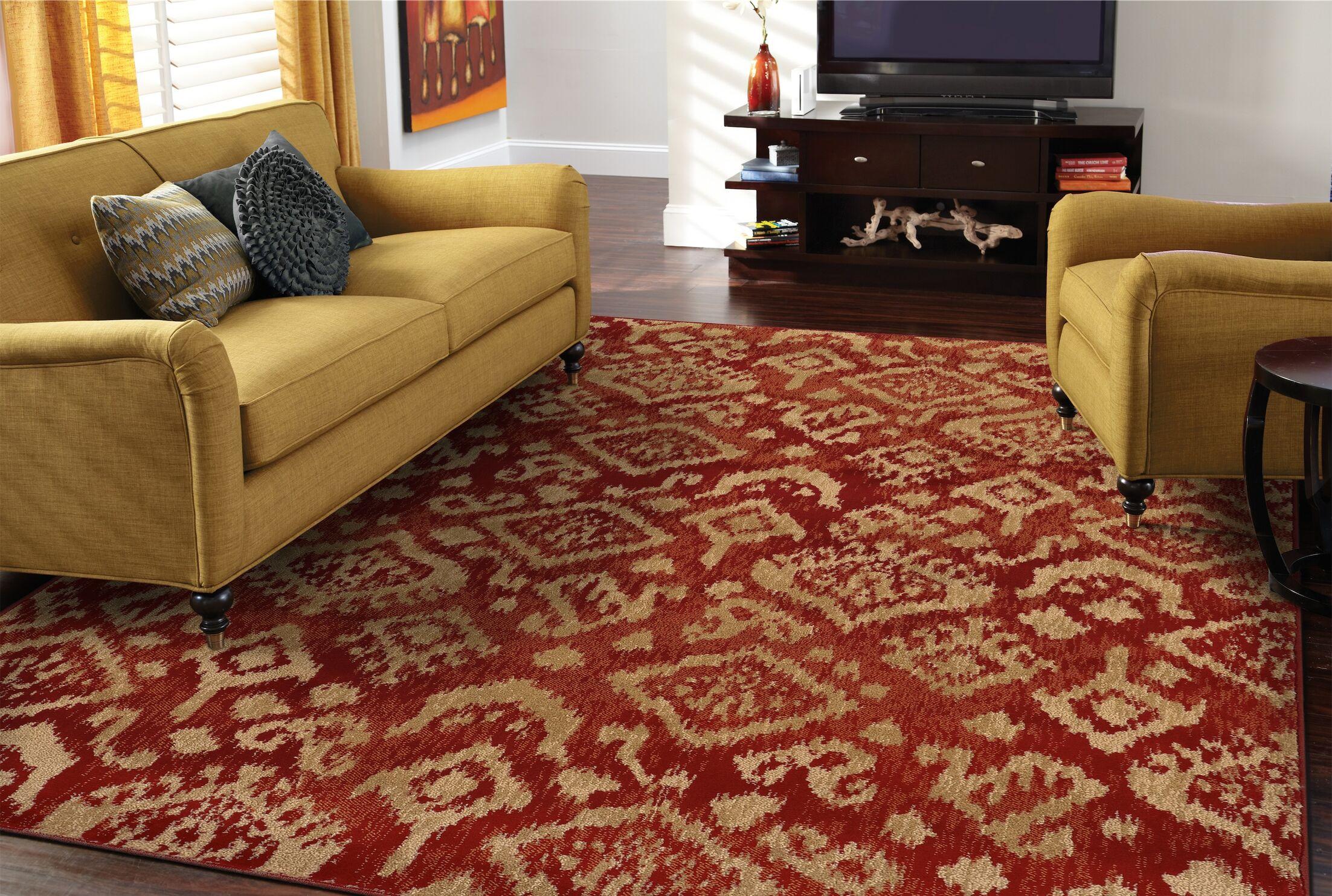 Sonora Red/Beige Area Rug Rug Size: Runner 1'1 x 7'6
