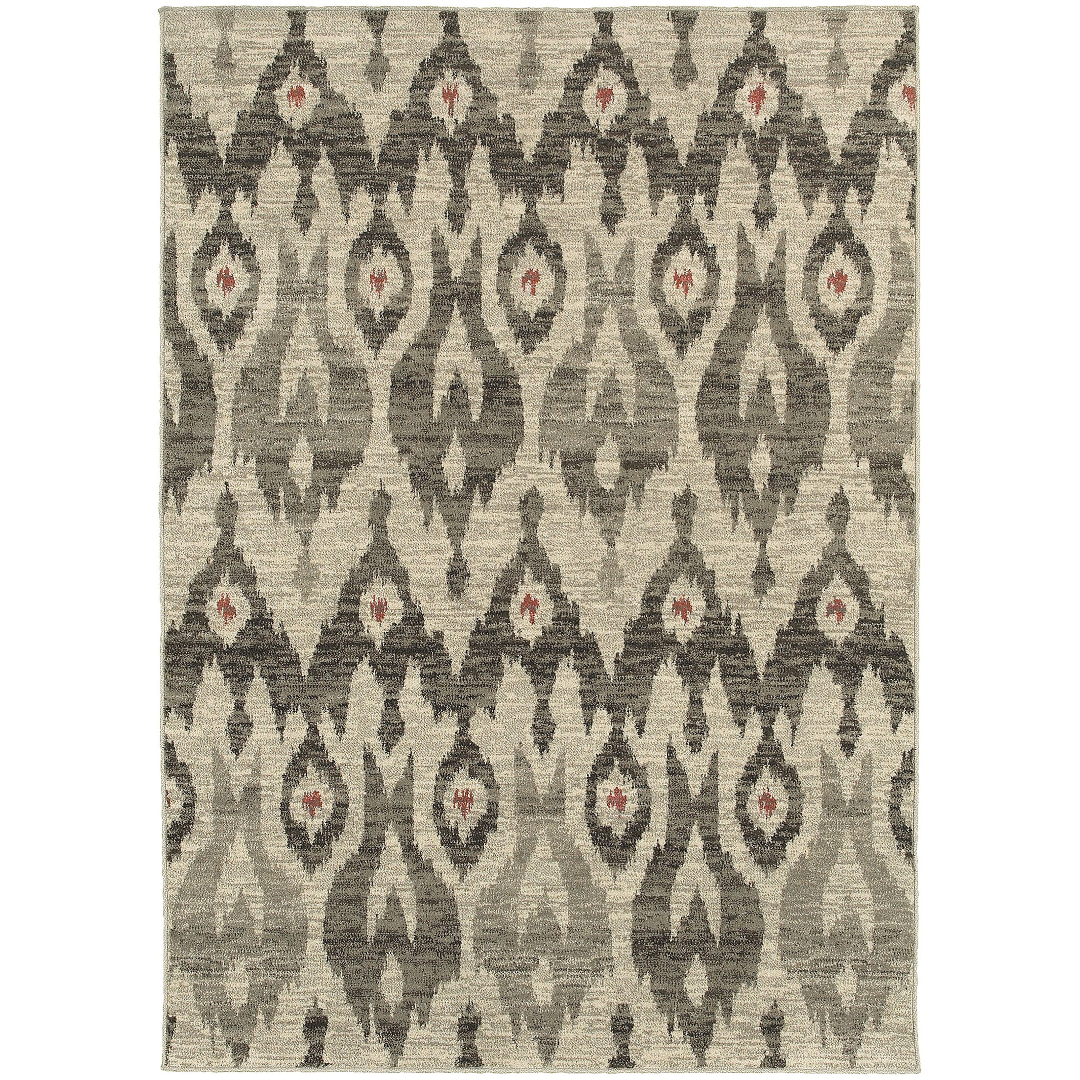 Petrina Ivory/Gray Area Rug Rug Size: Rectangle 5'3