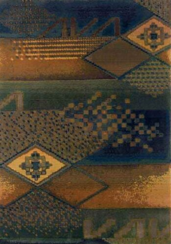 Sarabi Blue/Green Area Rug Rug Size: Runner 2'3