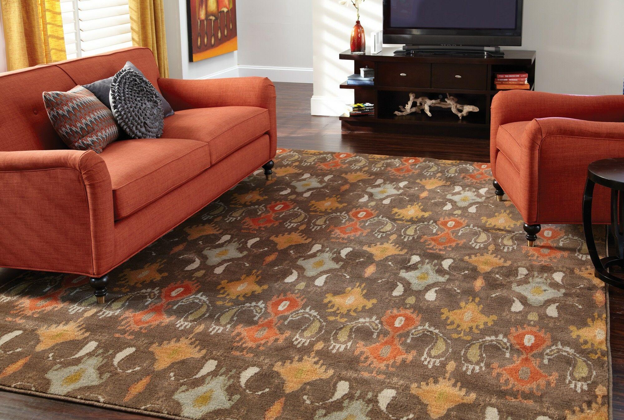 Solvang Brown/Orange Area Rug Rug Size: Rectangle 3'10